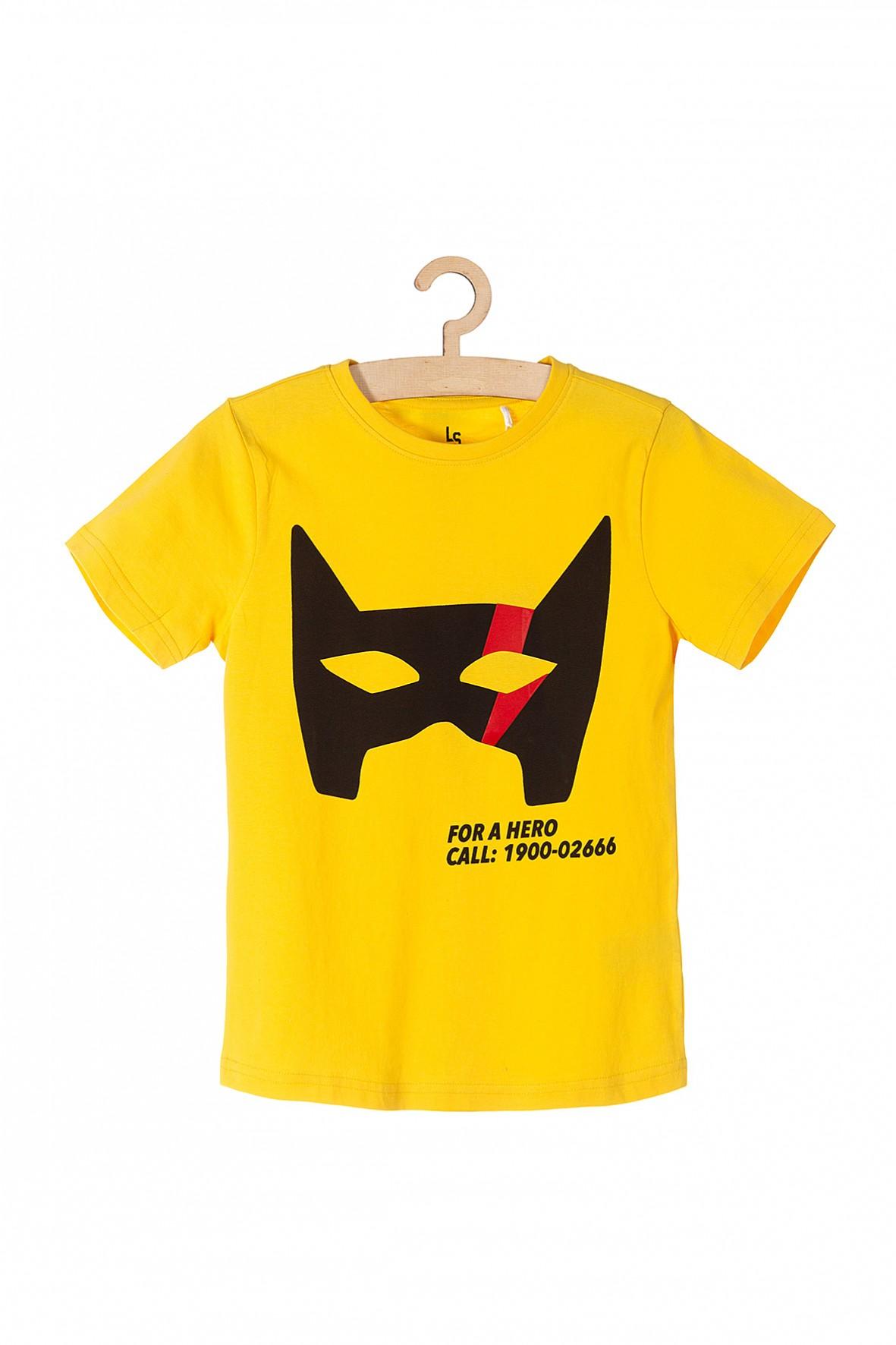 T-shirt chłopięcy Hero- żółty 100% bawełna