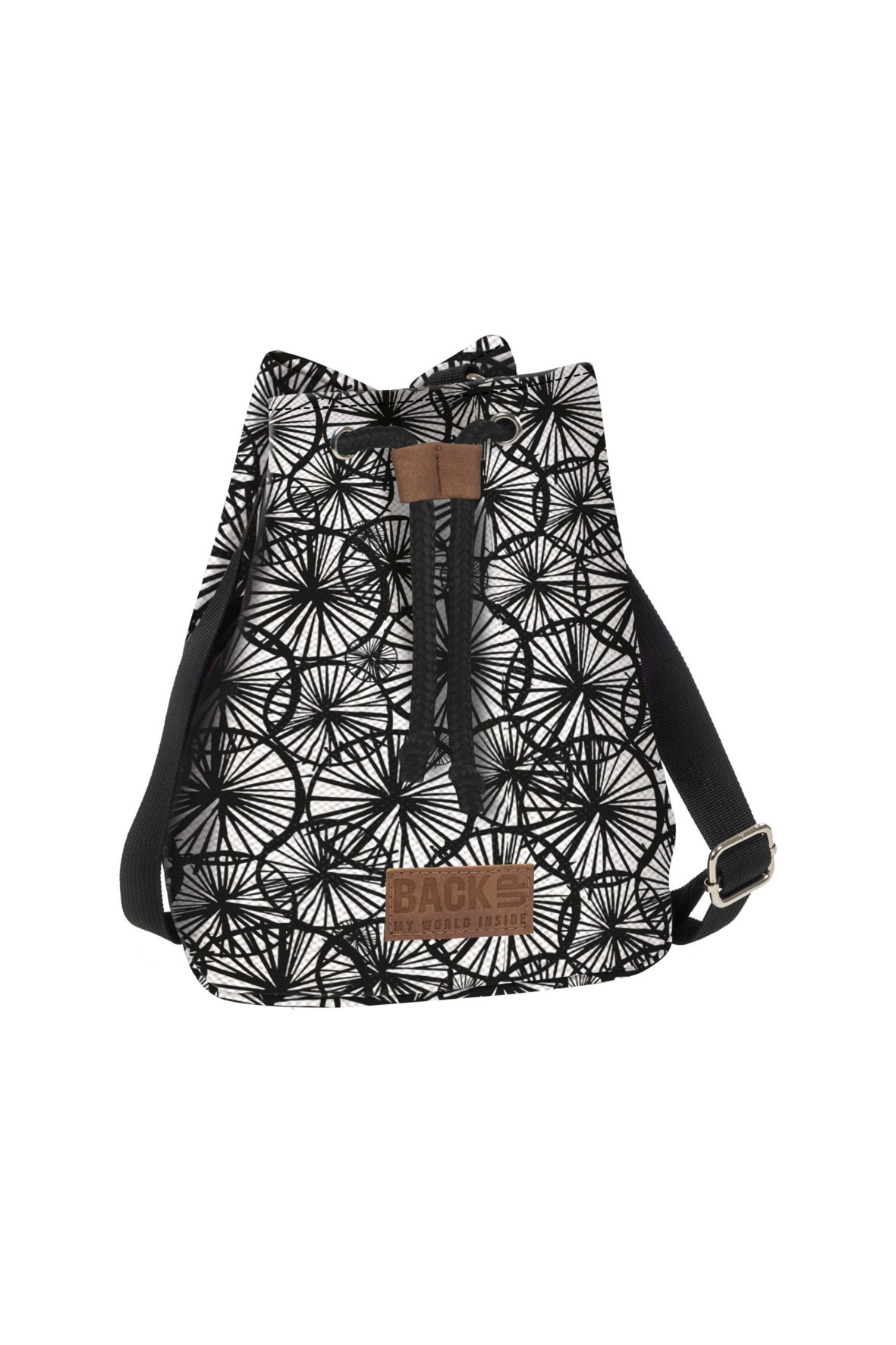 Plecak 2w1 Canvas dziewczęcy czarno-biały