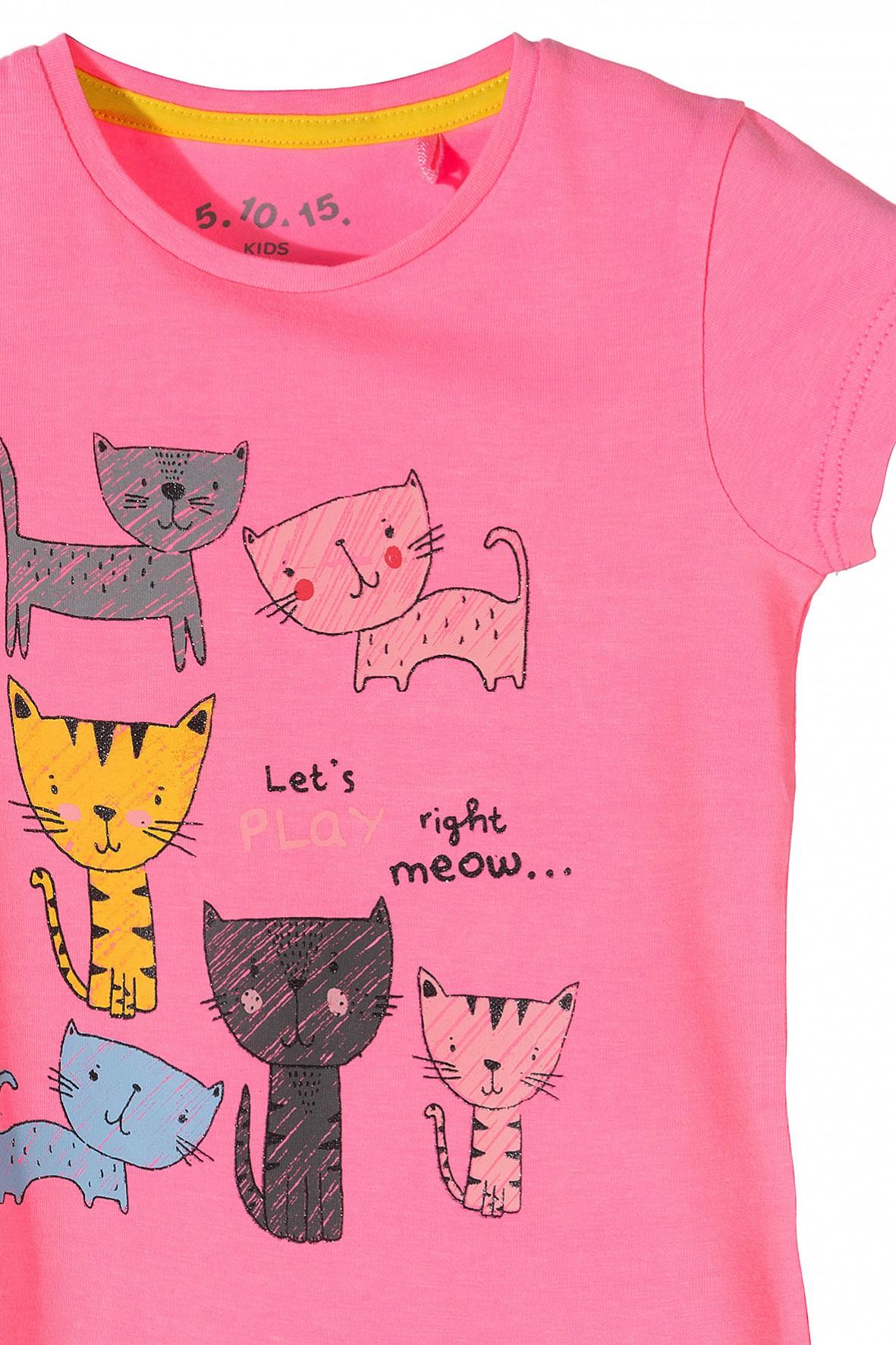 d4392159cb Koszulka dziewczęca różowa z kotami · Koszulka dziewczęca różowa z kotami  ...