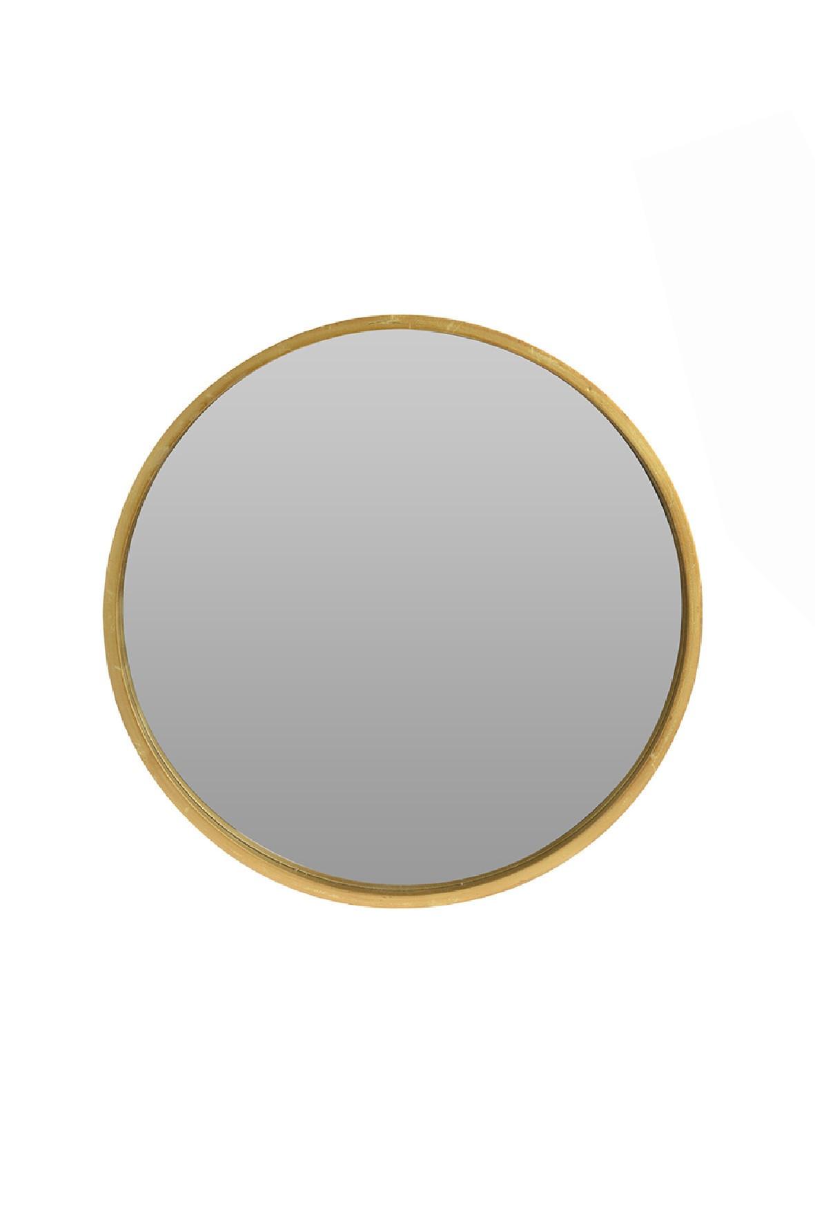 Lustro okrągłe złote 40cm