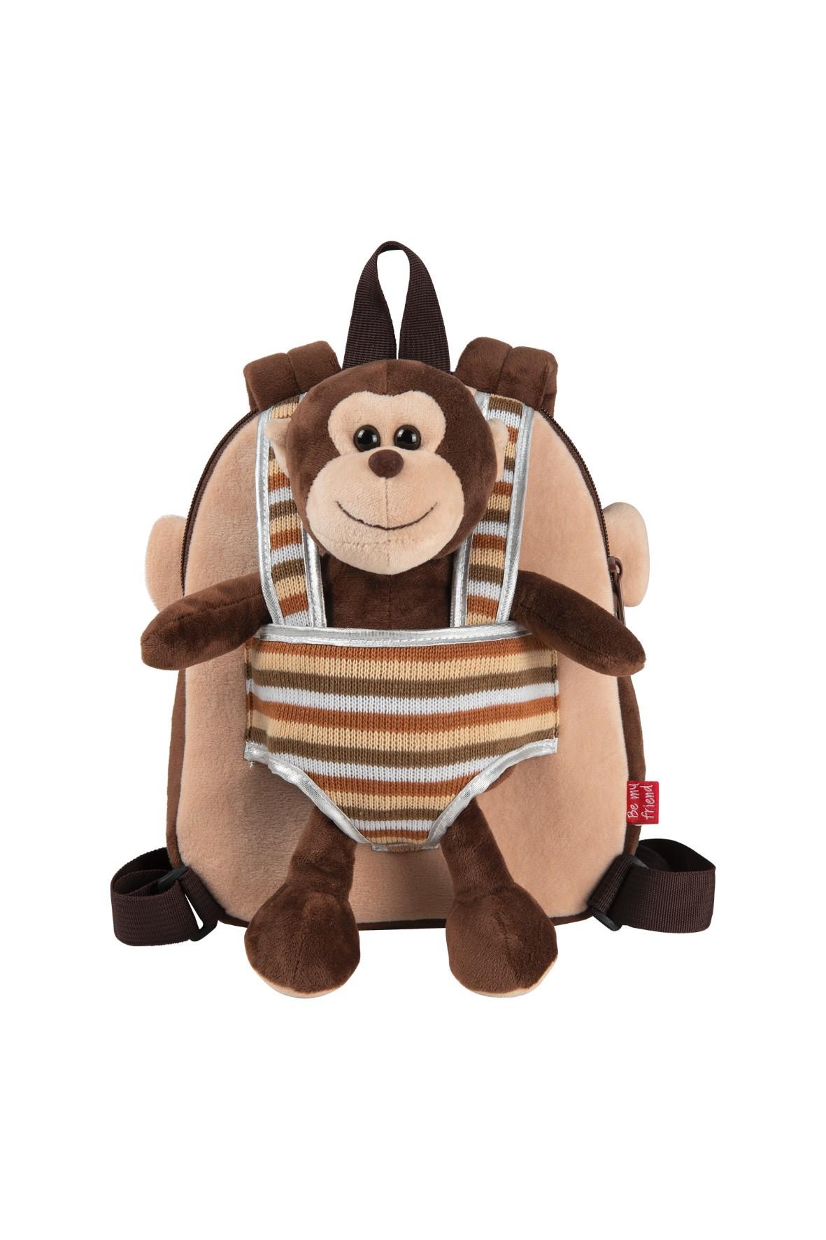 Plecak dwustronny z przytulanką - Małpka wiek 2+
