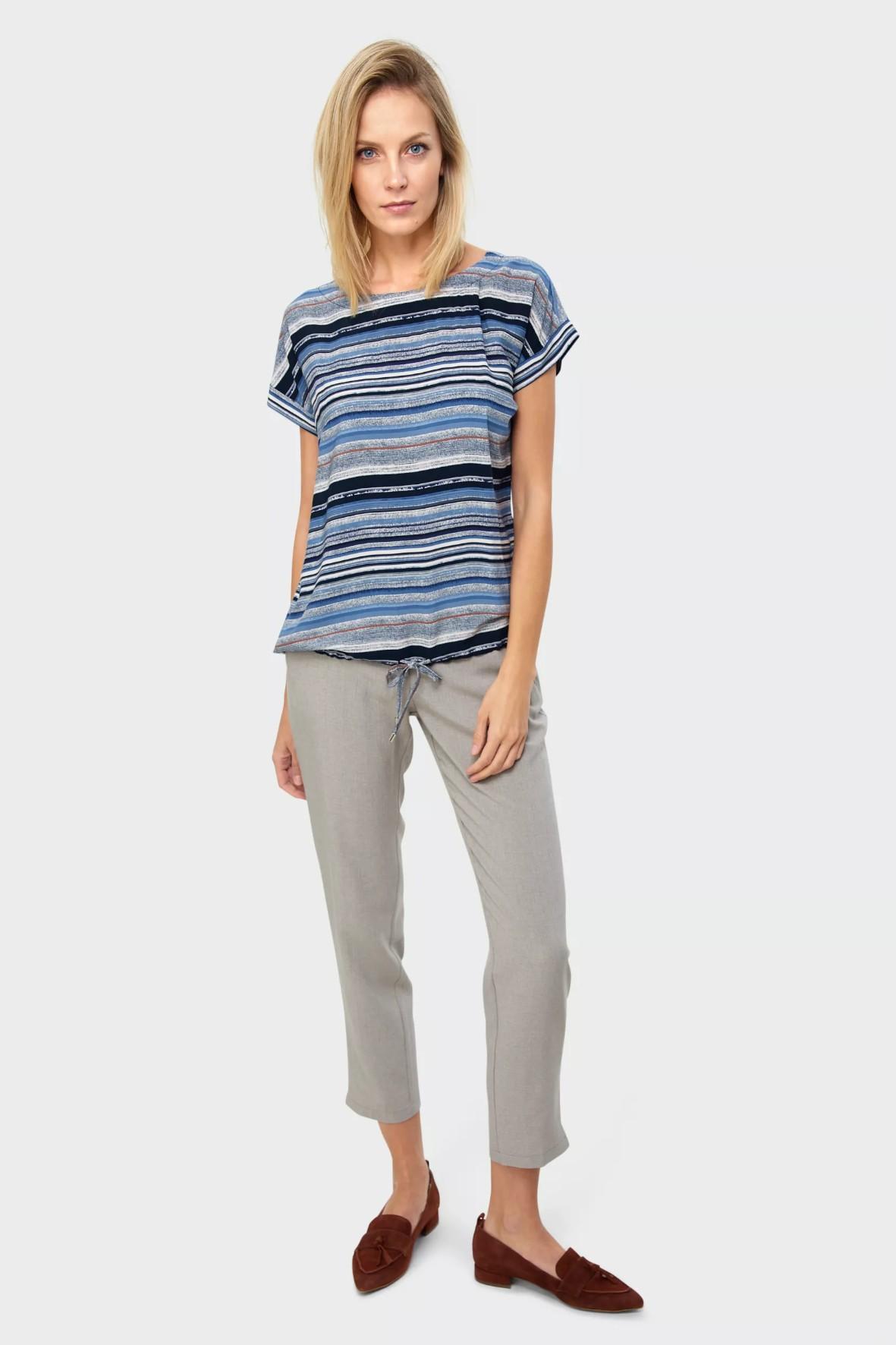 Bluzka damska wiskozowa w paski