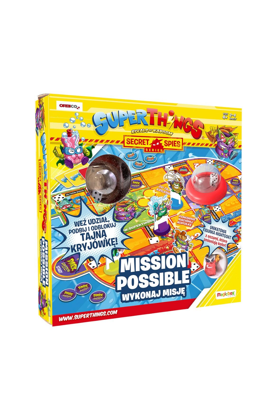 Superthings Mission Possible Wykonaj misję Gra planszowa