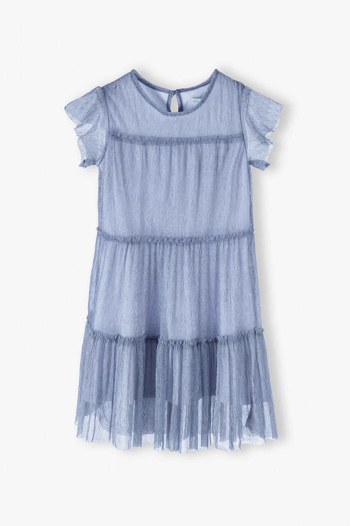 Sukienka na krótki rękaw z falbanką