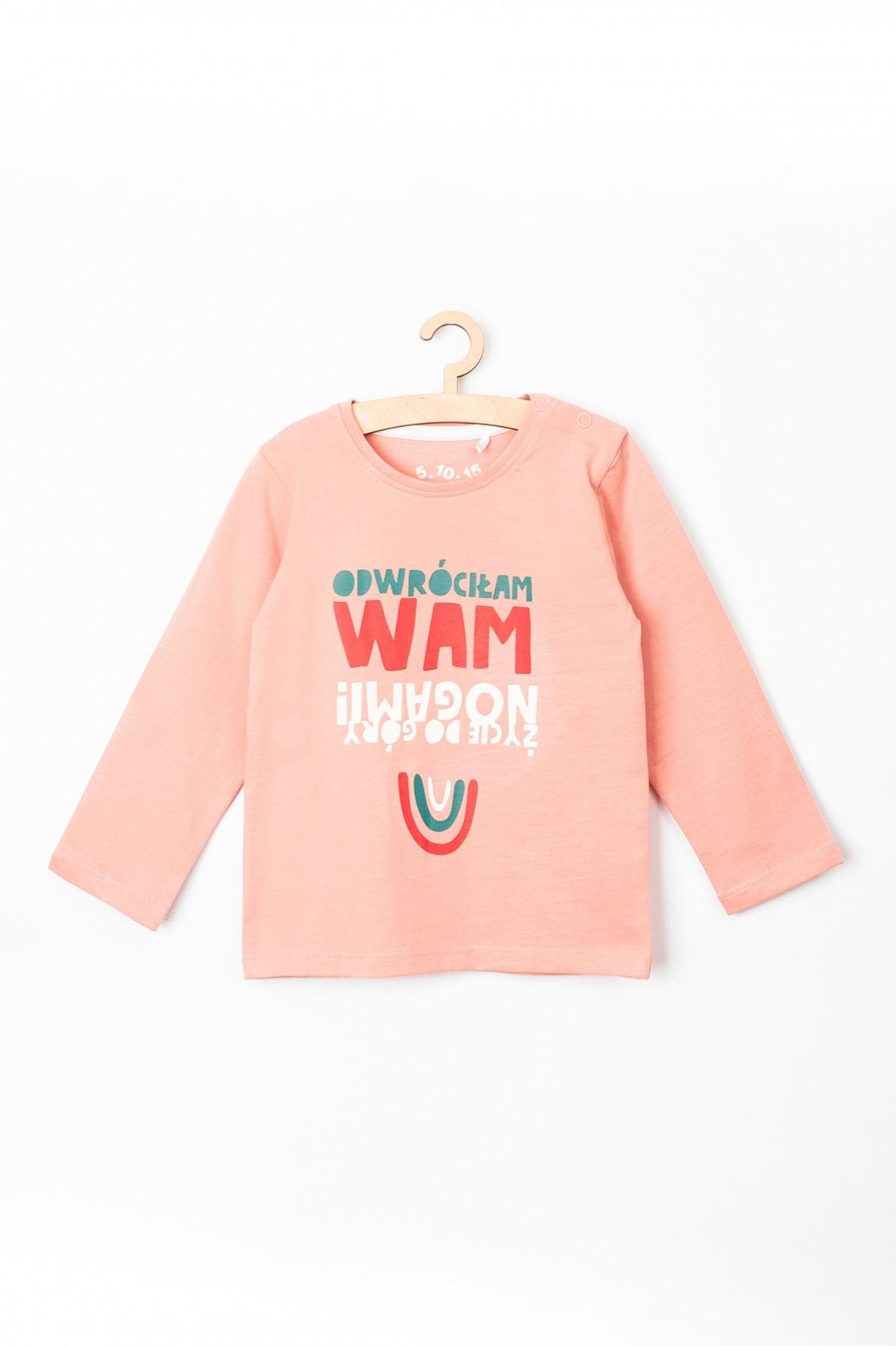 Bluzka niemowlęca dla dziewczynki z zabawnym napisem