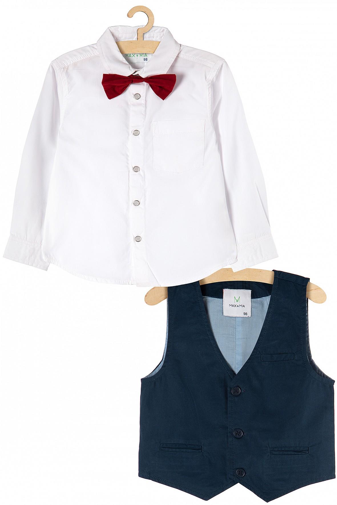 Komplet chłopięcy koszula + kamizelka