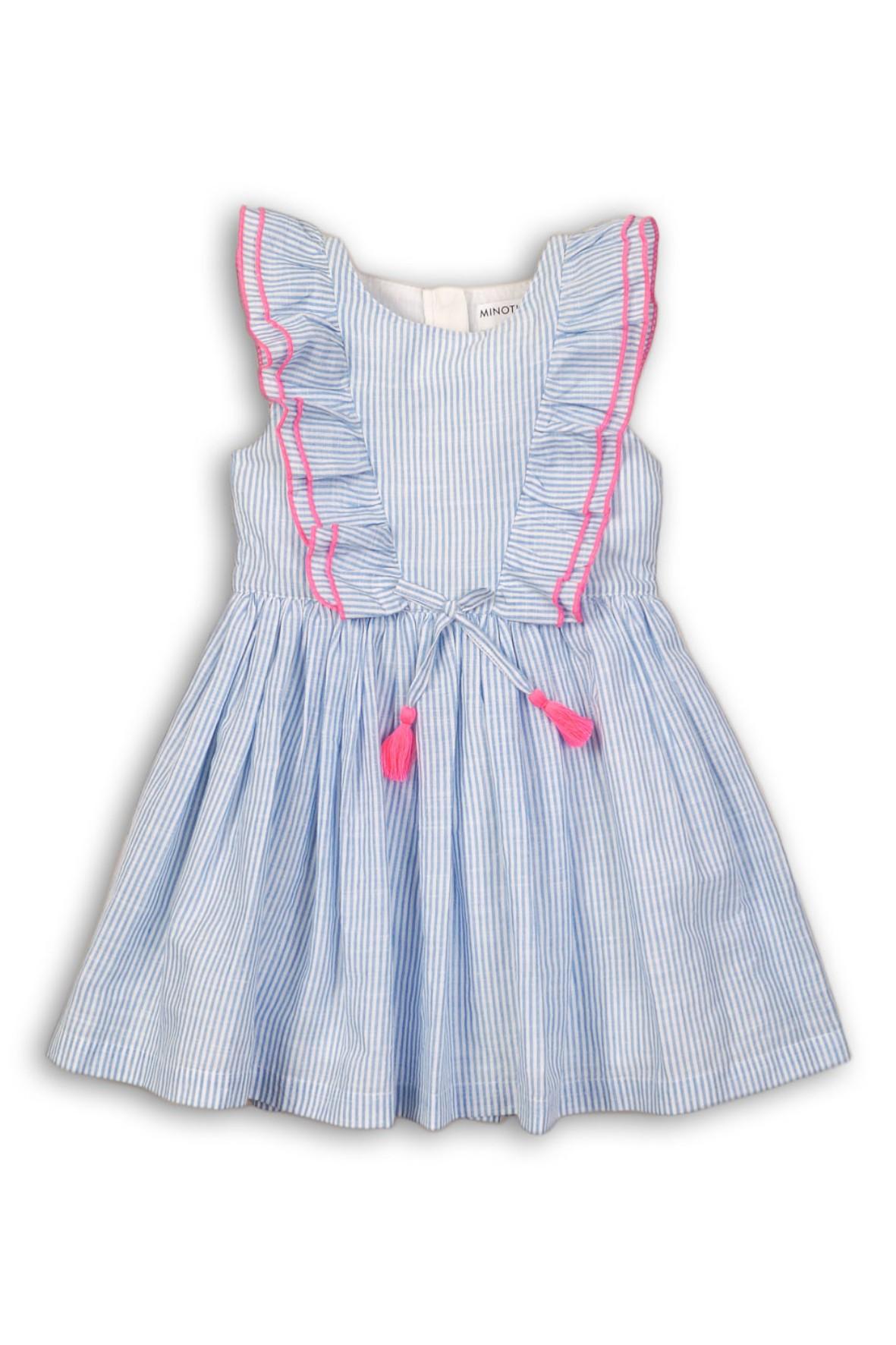 Sukienka dziewczęca z ozdobną falbaną