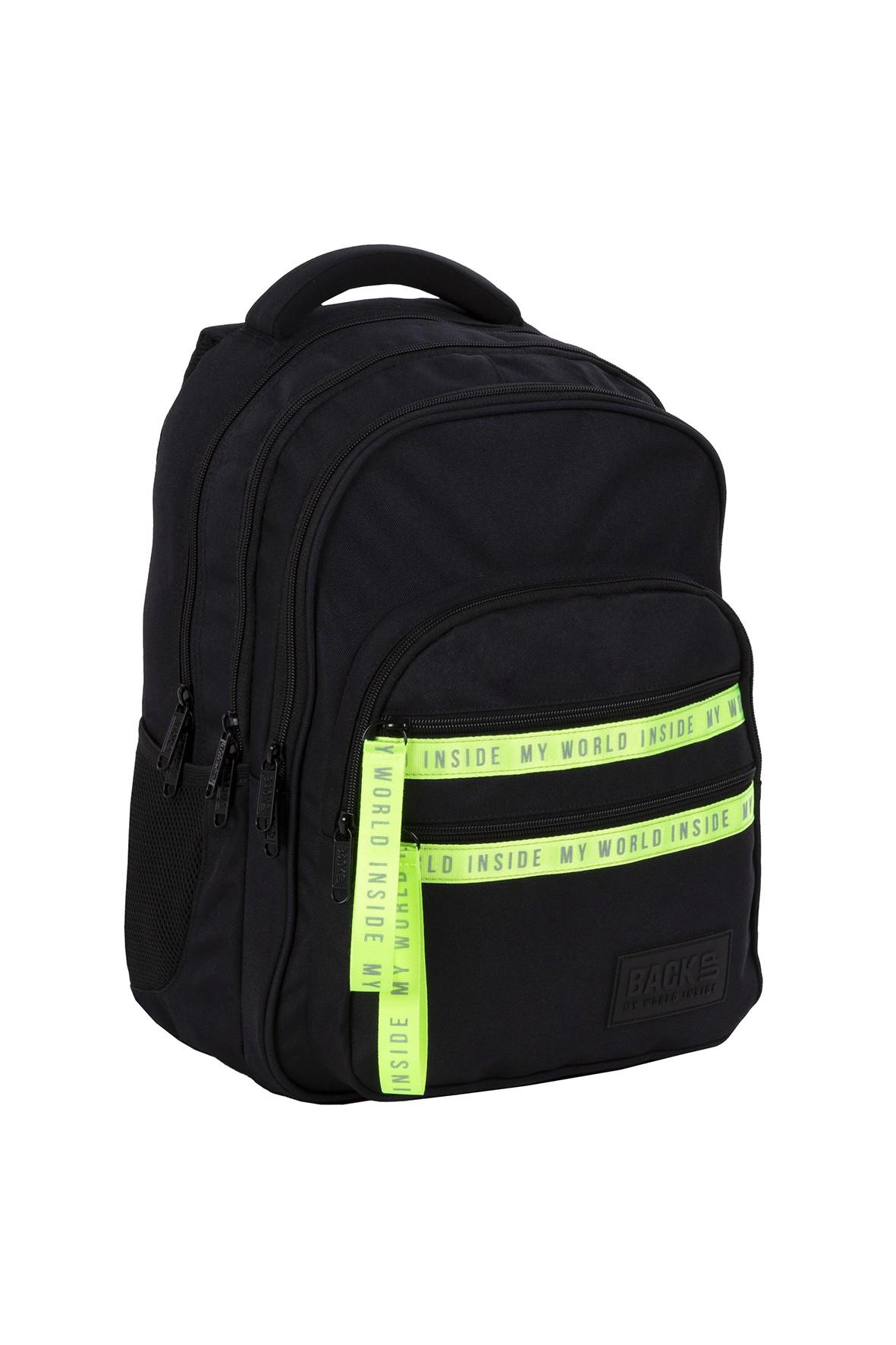 Plecak BackUp chłopięcy czarny