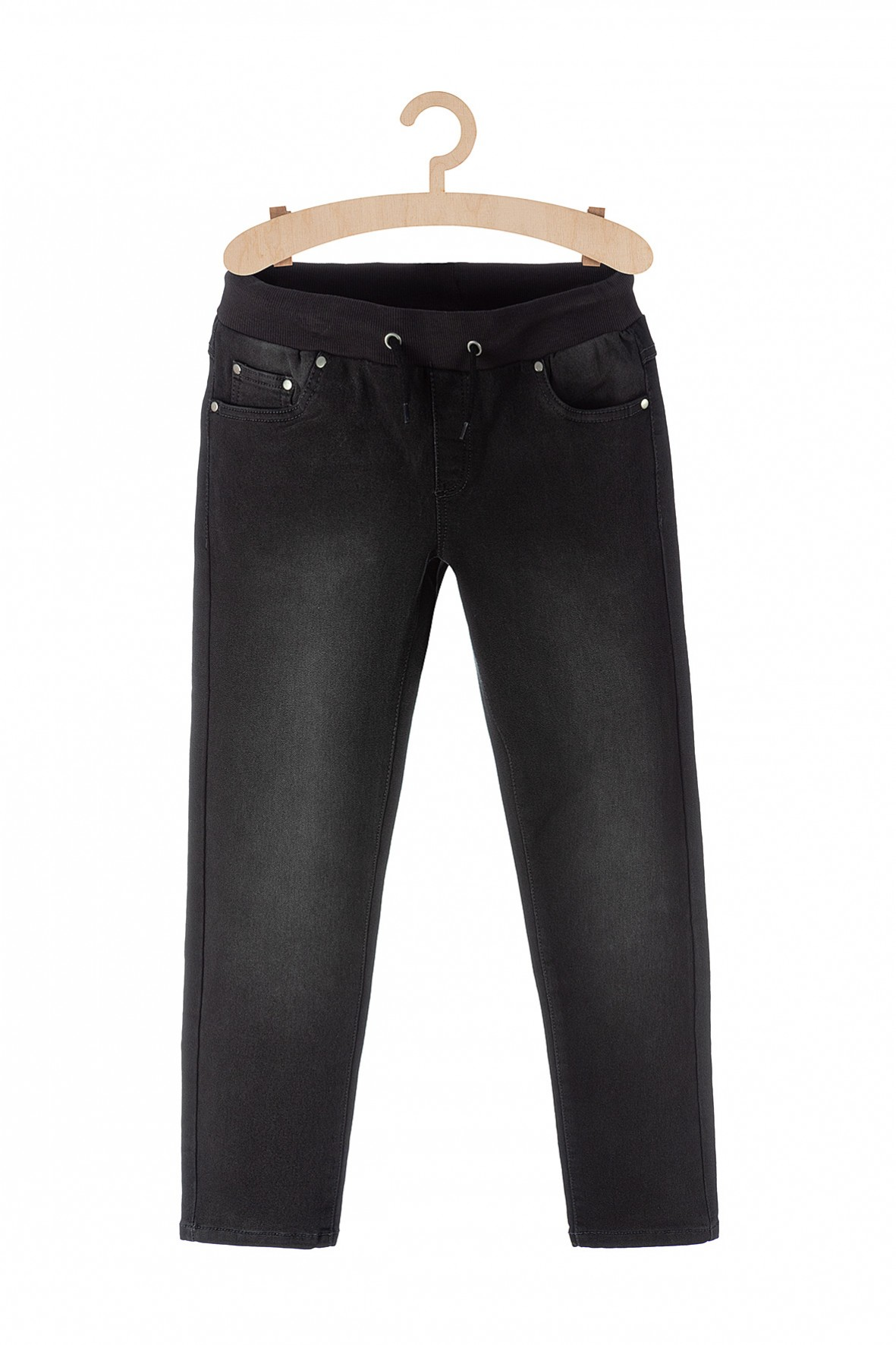Spodnie chłopięce czarne jeansowe