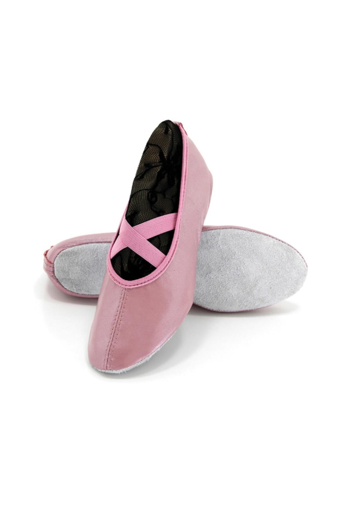 Baletki dziewczęce różowe ze skóry naturalnej