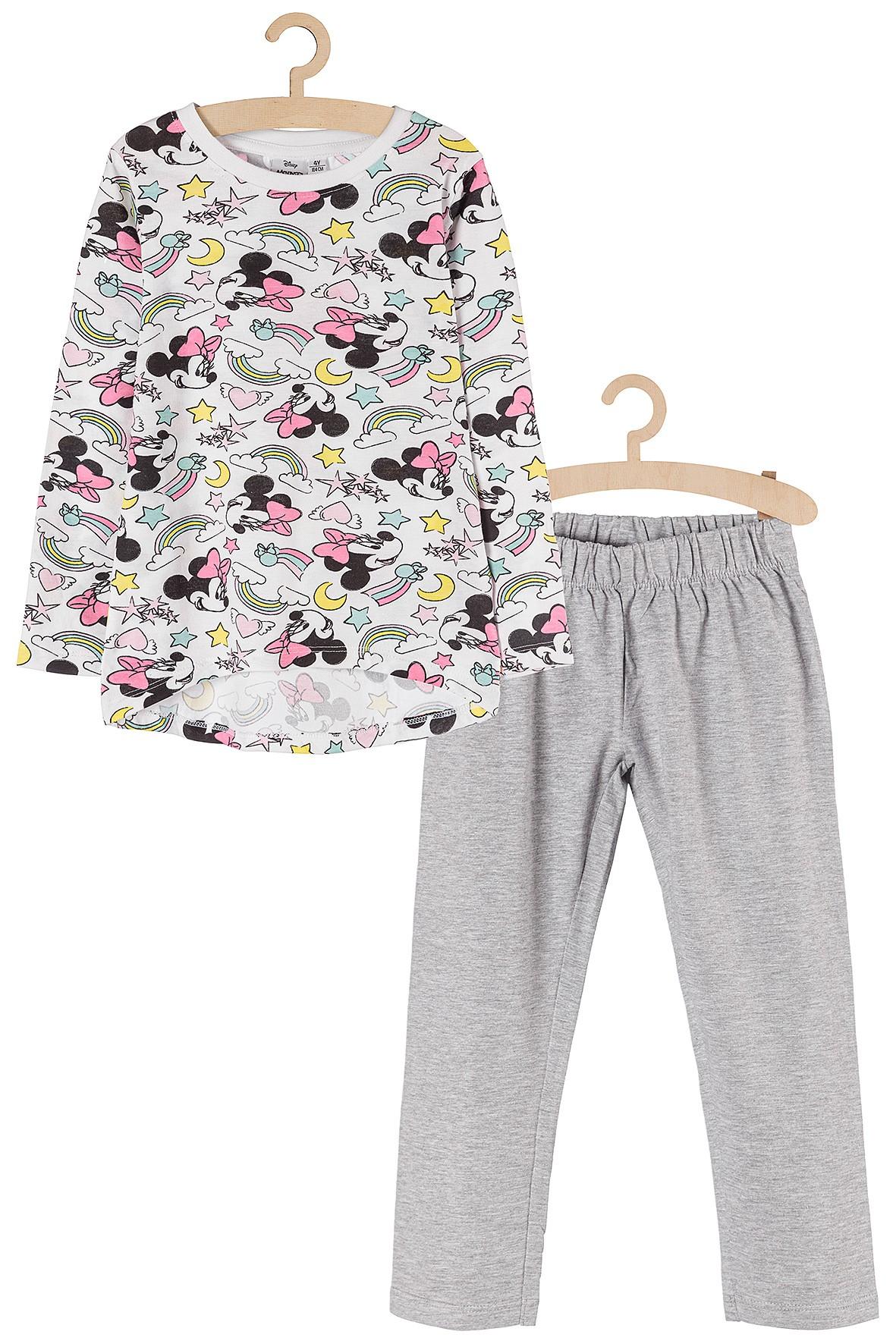 Piżama dziewczęca szara Myszka Minnie