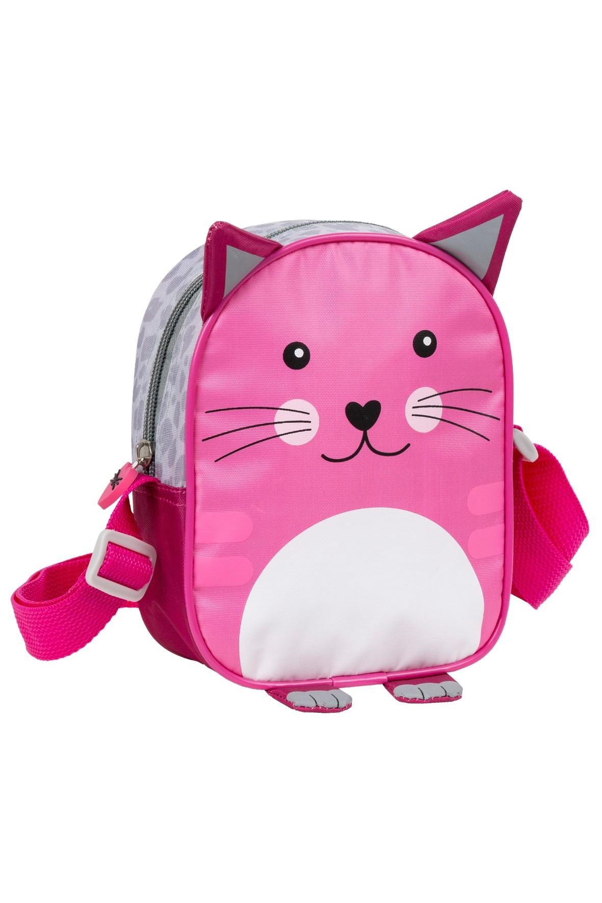 Torebka na ramię Kot- różowa