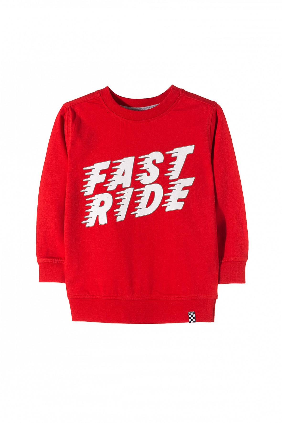 Bluzka czerwona dla chłopca- fast ride