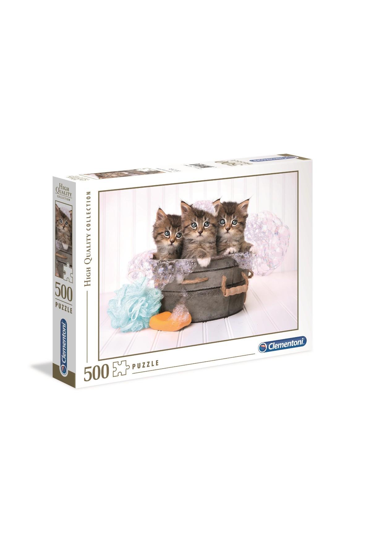 Puzzle Clementoni Kocięta i mydło - 500 elementów