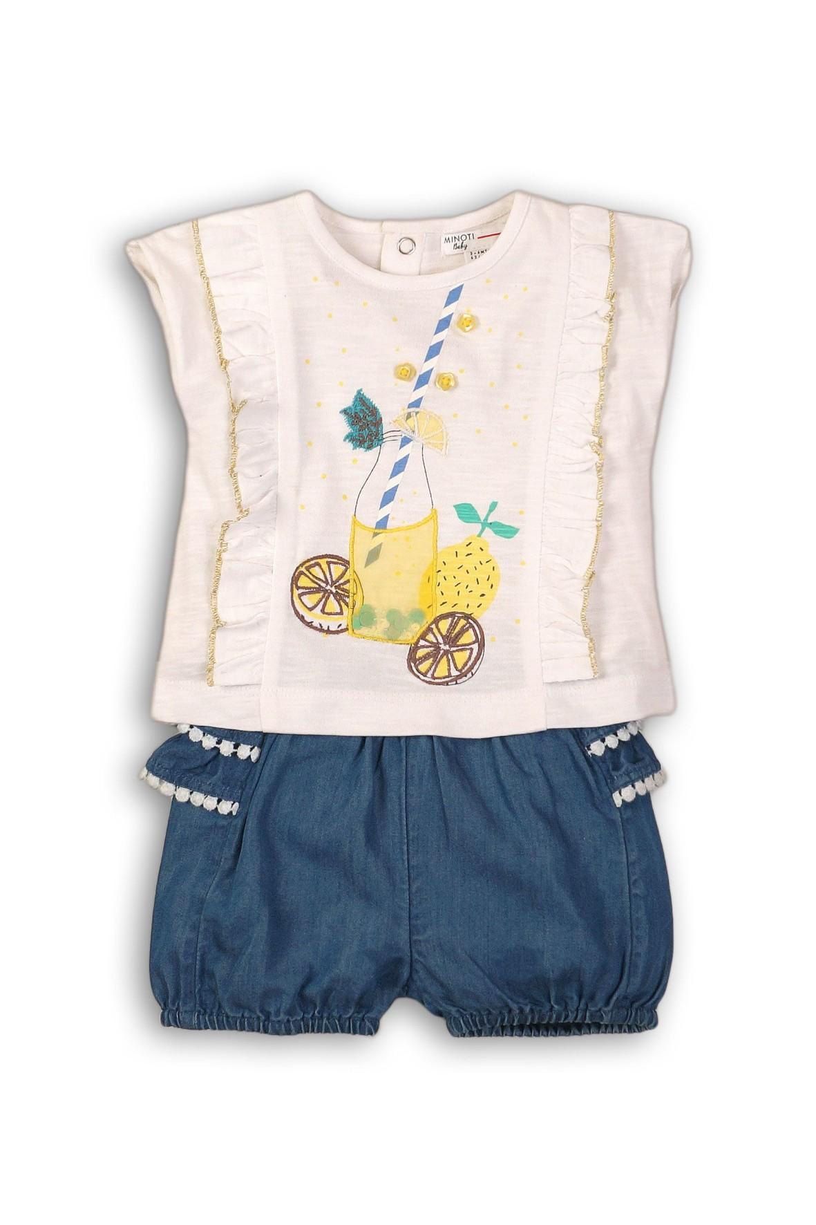 Komplet niemowlęcy dla dziewczynki bluzka i spodenki
