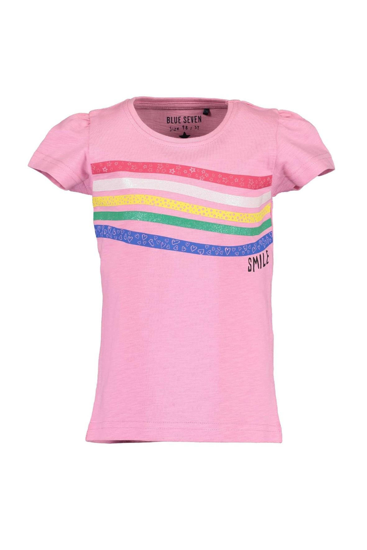 T-Shirt dziewczęcy różowy - smile