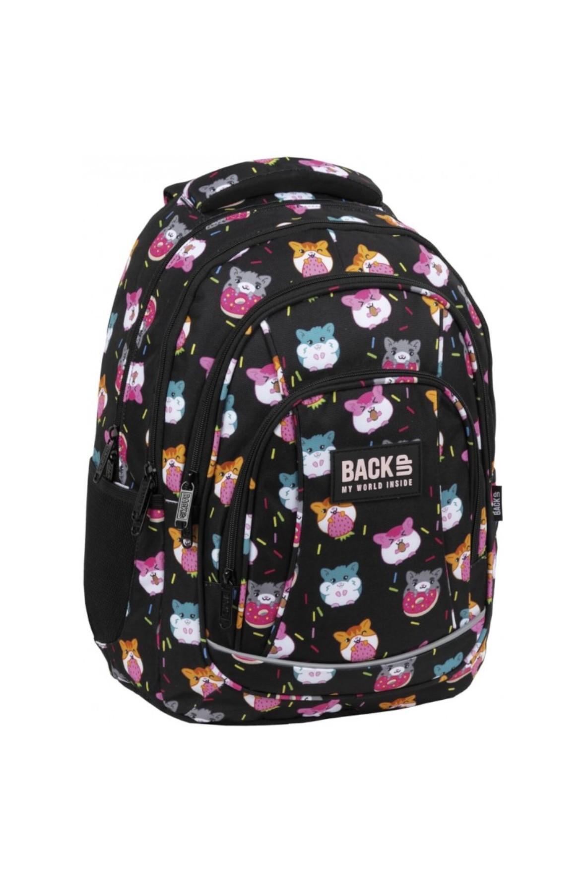Plecak dziewczęcy do szkoły Chomiki