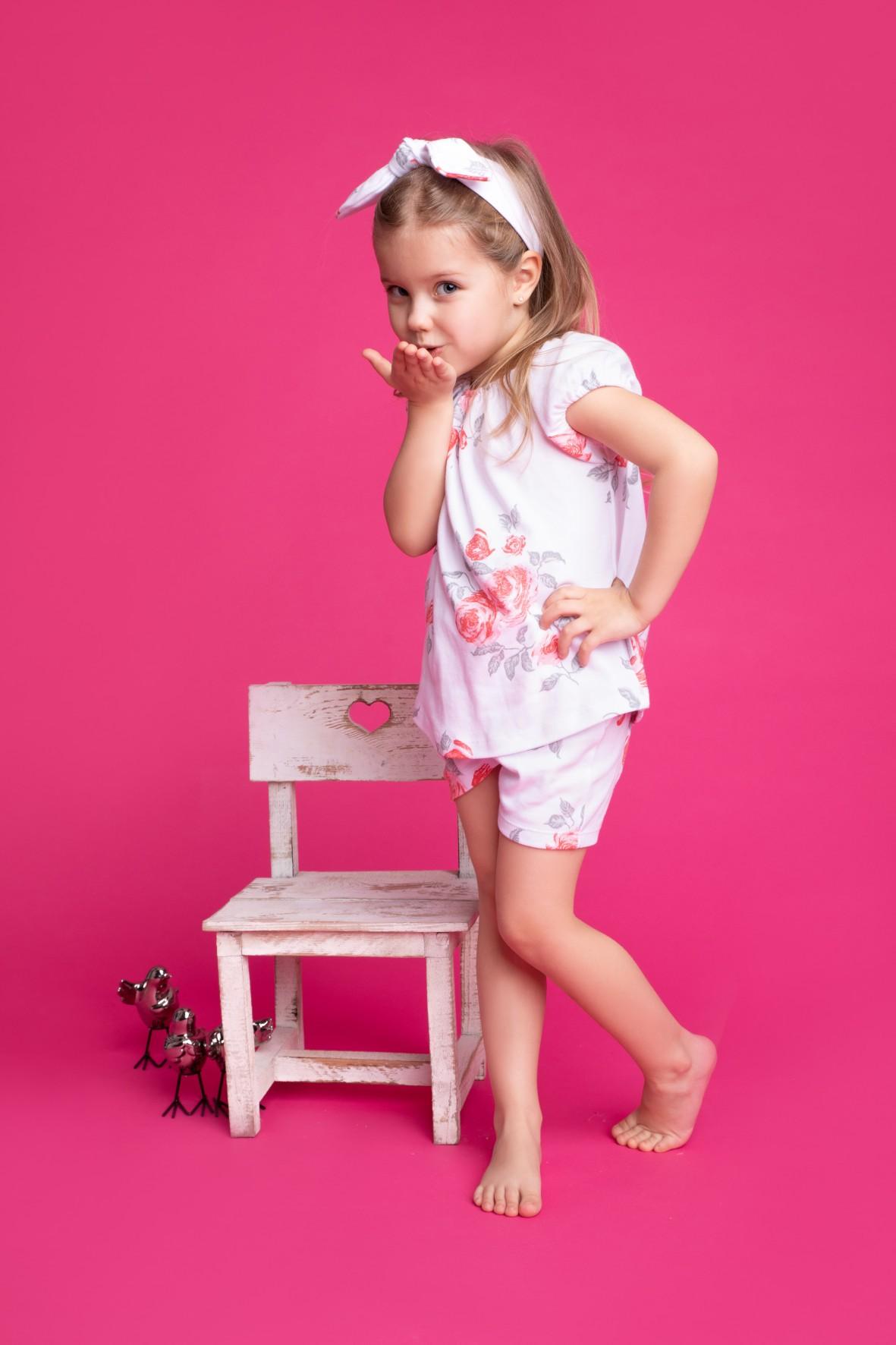 Bawełniana bluzka dziewczęca z kolekcji Róża