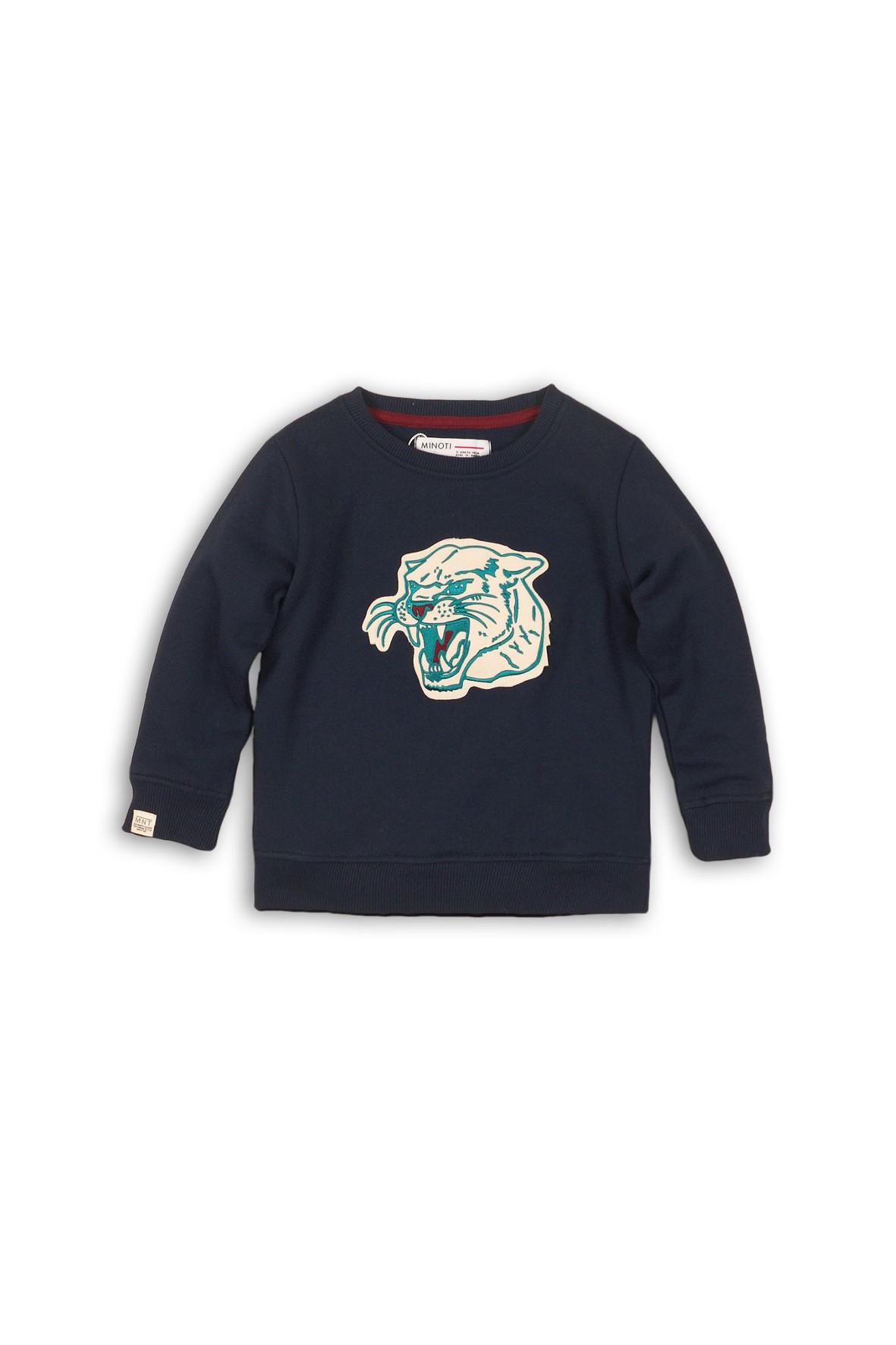 Bluza dresowa z tygrysem- granatowa