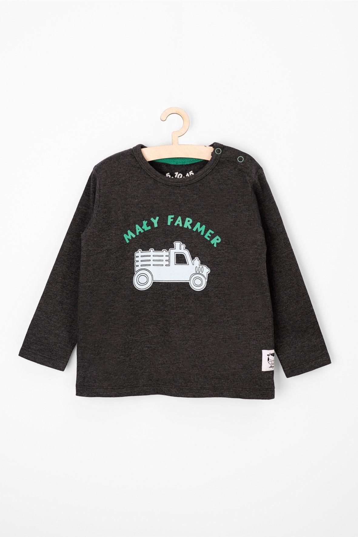 Bluzka chłopięca z miękkiej dzianiny-mały farmer