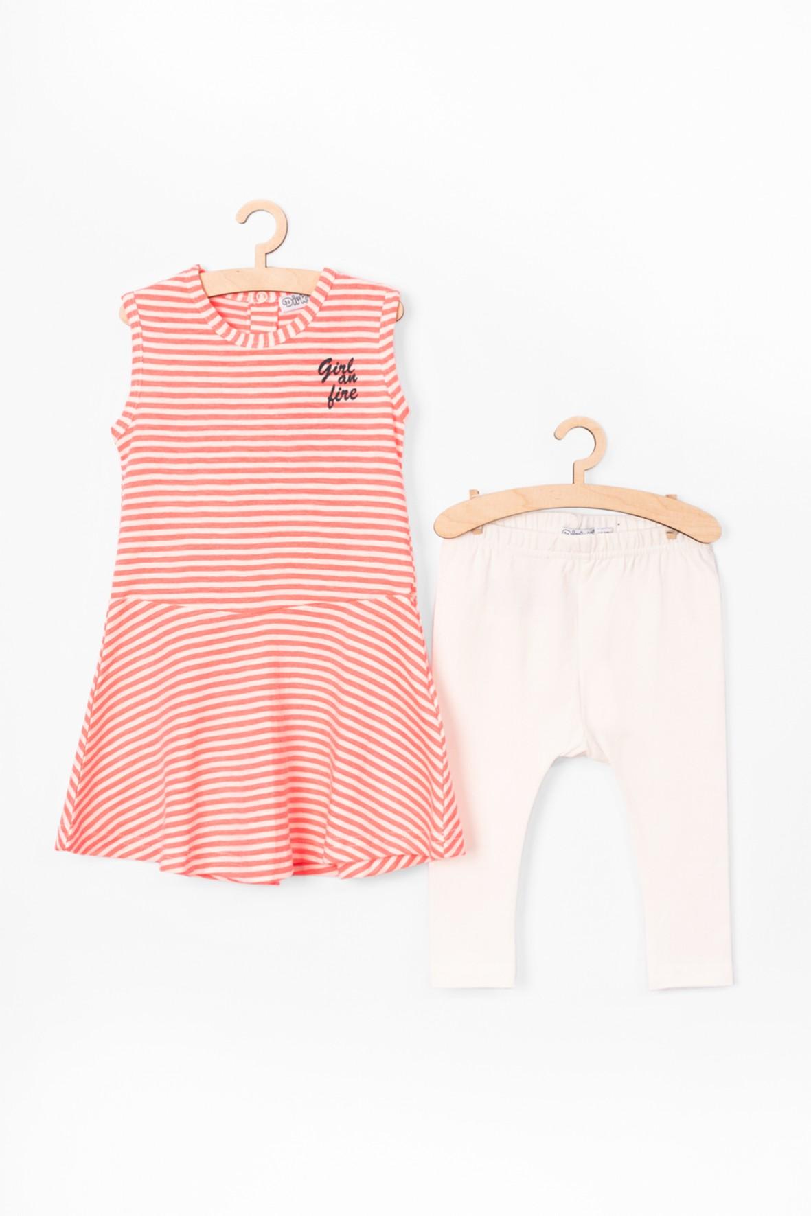 Komplet dla dziewczynki- Sukienka i leginsy