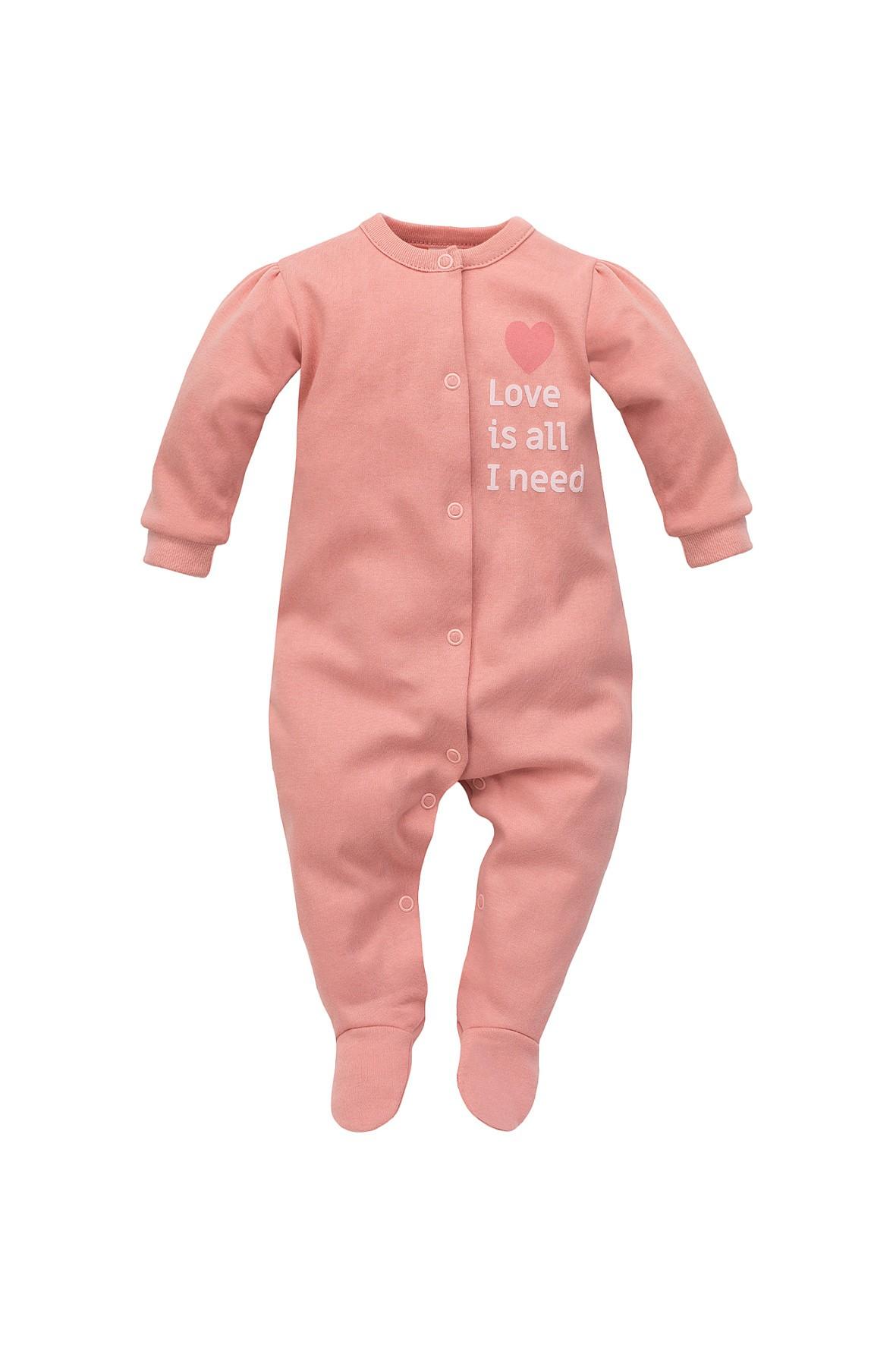 Pajac niemowlęcy różowy Love is all I need