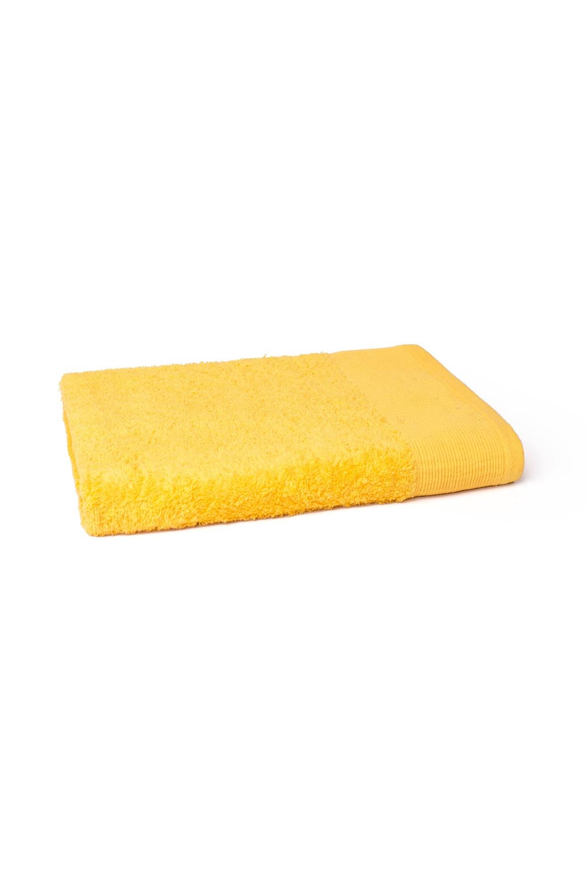 Bawełniany ręcznik w kolorze żółtym 70x140 cm