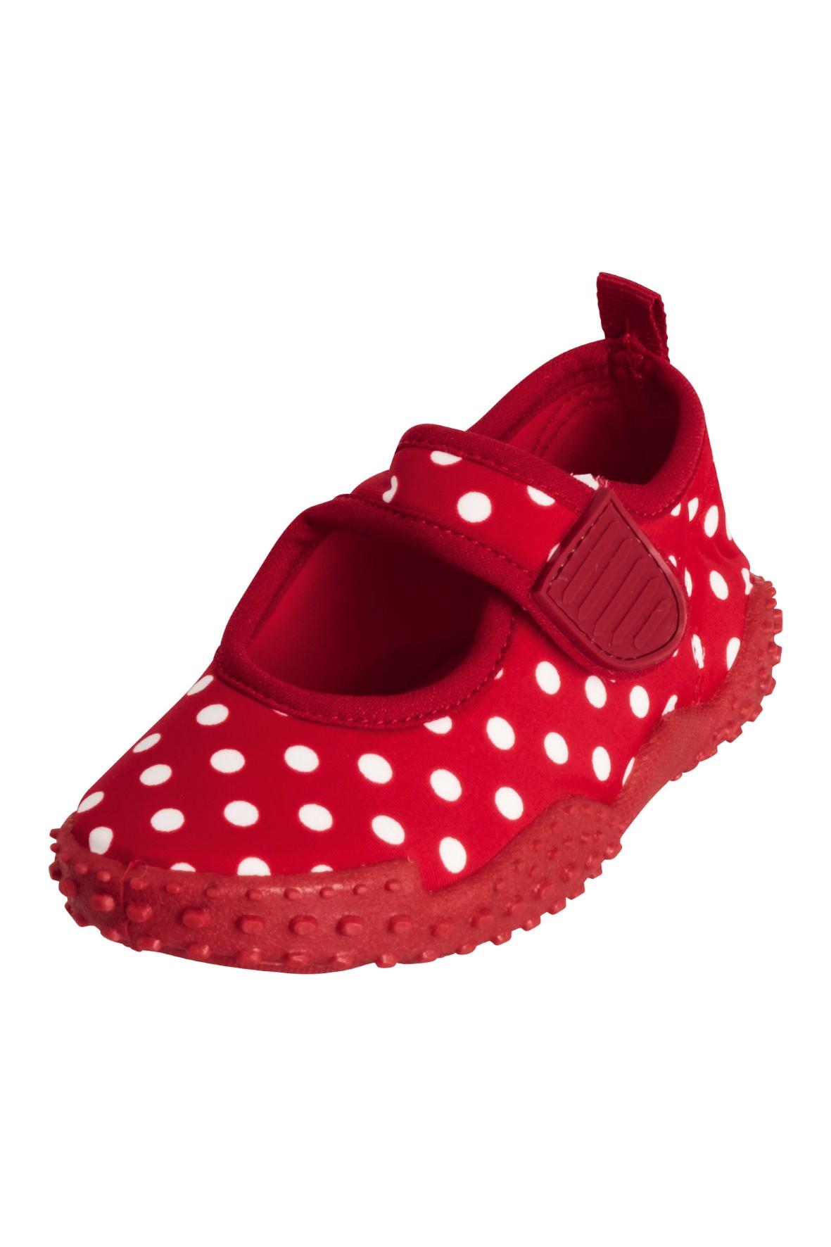 Buty kąpielowe z filtrem UV Kropki