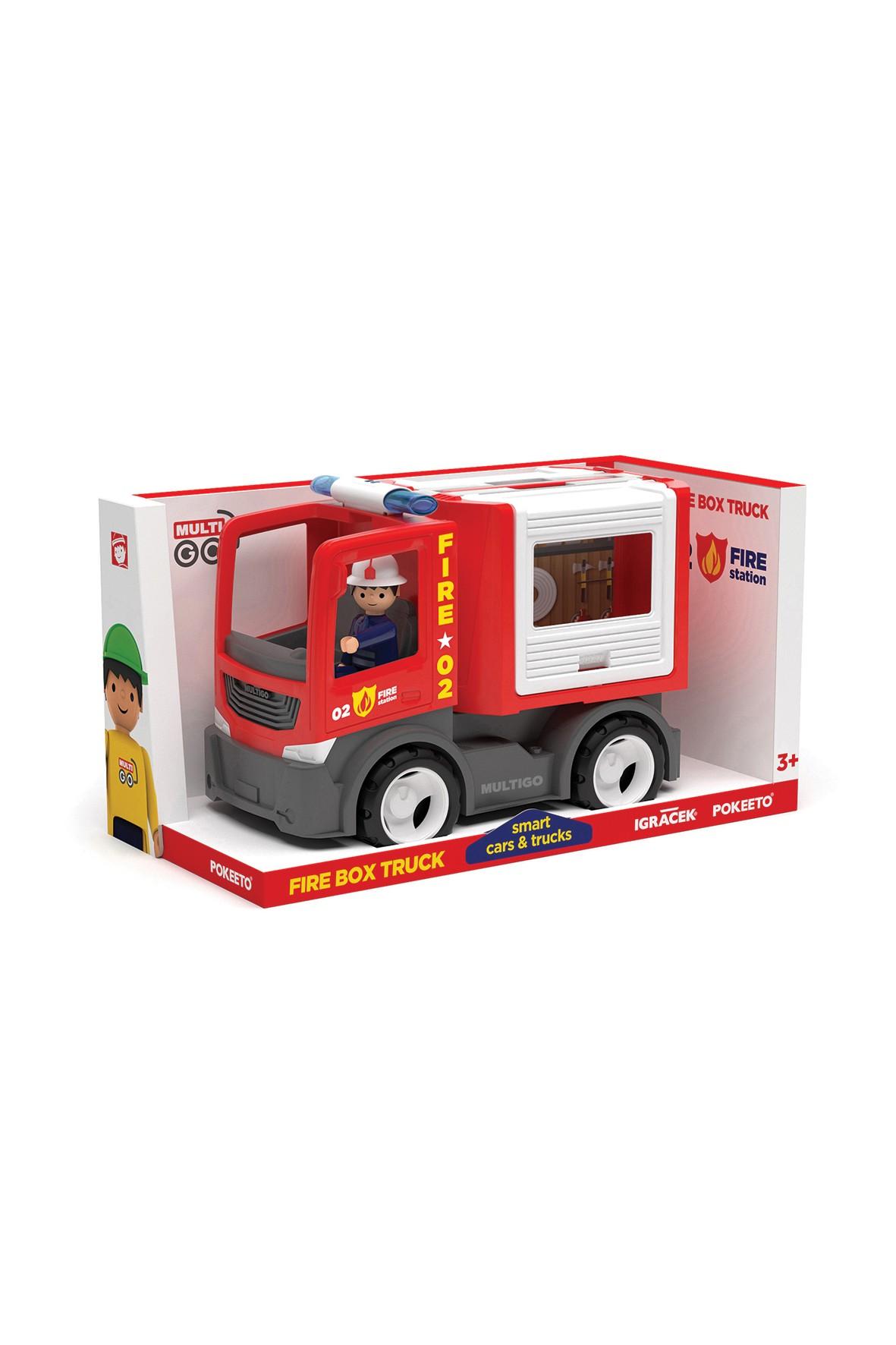 Wóz strażacki ze strażakiem Multigo Fire 3+