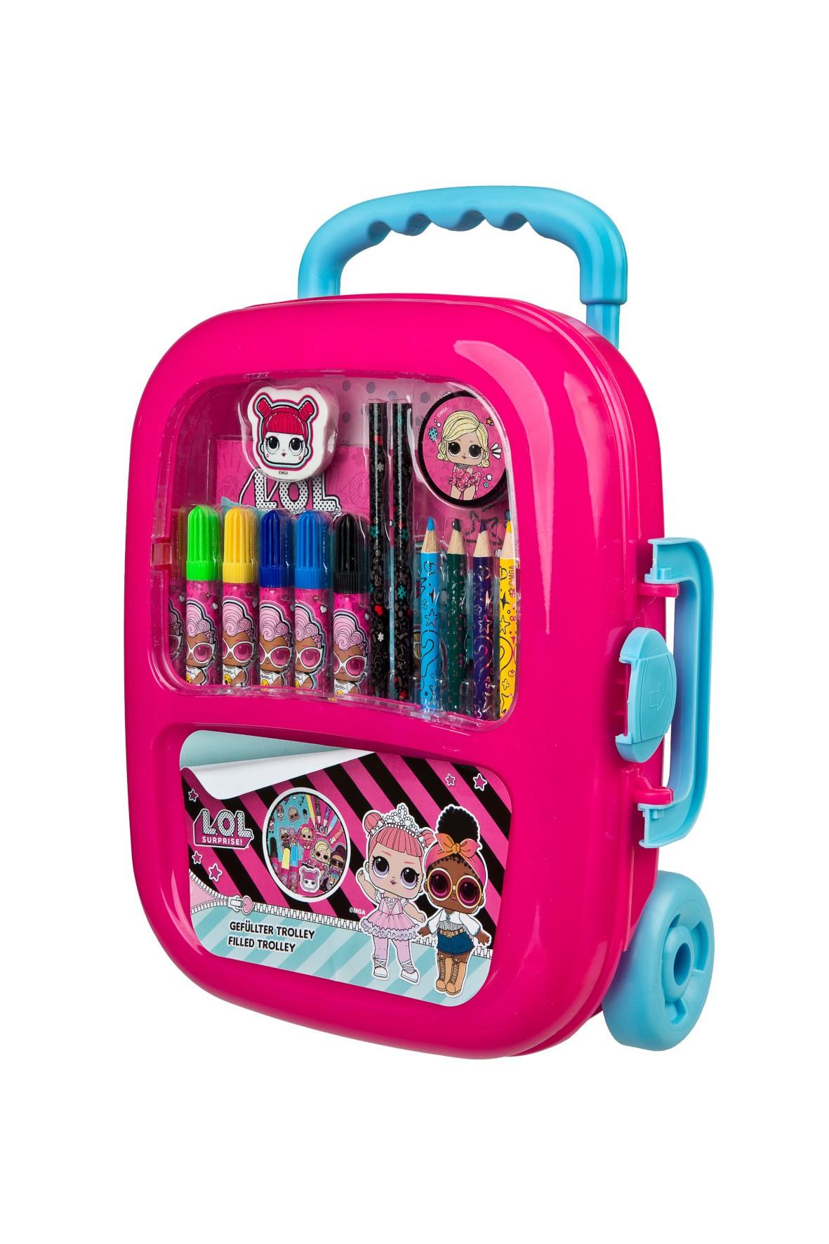 Zestaw kreatywny- walizka na kółkach L.O.L. Surprise - różowa