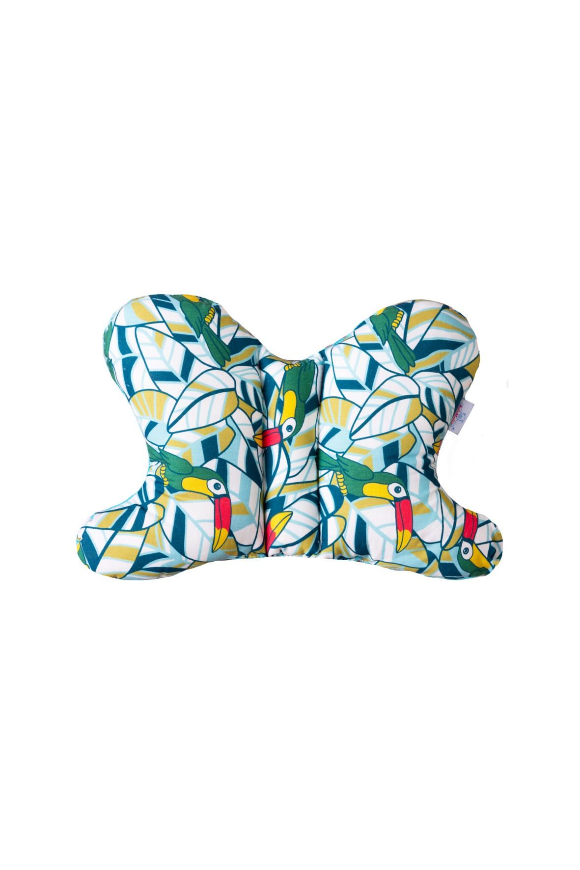 Poduszka pozycjonująca motyle- wzór w tukany