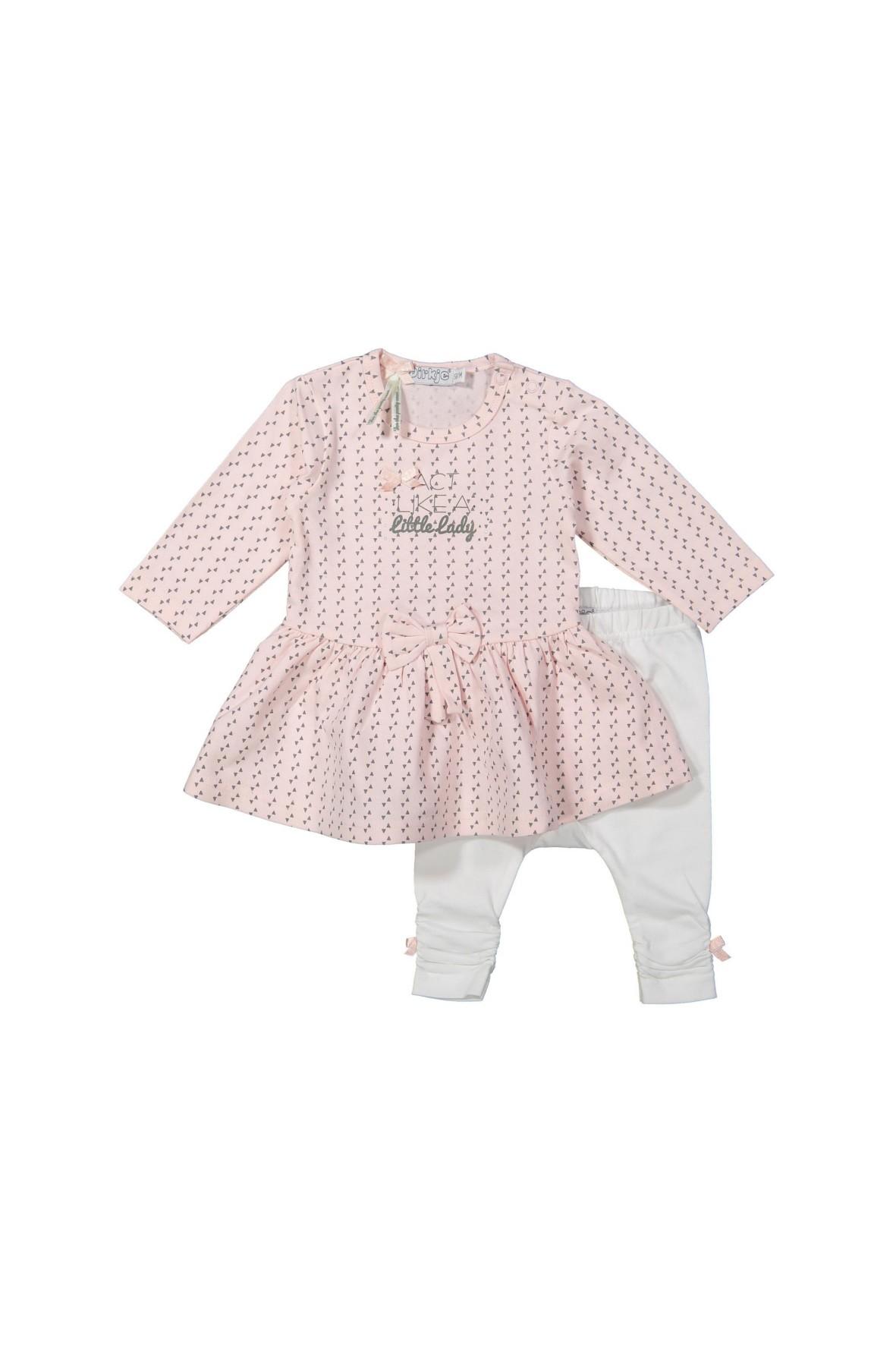 Komplet niemowlęcy-leginsy z tuniką little lady