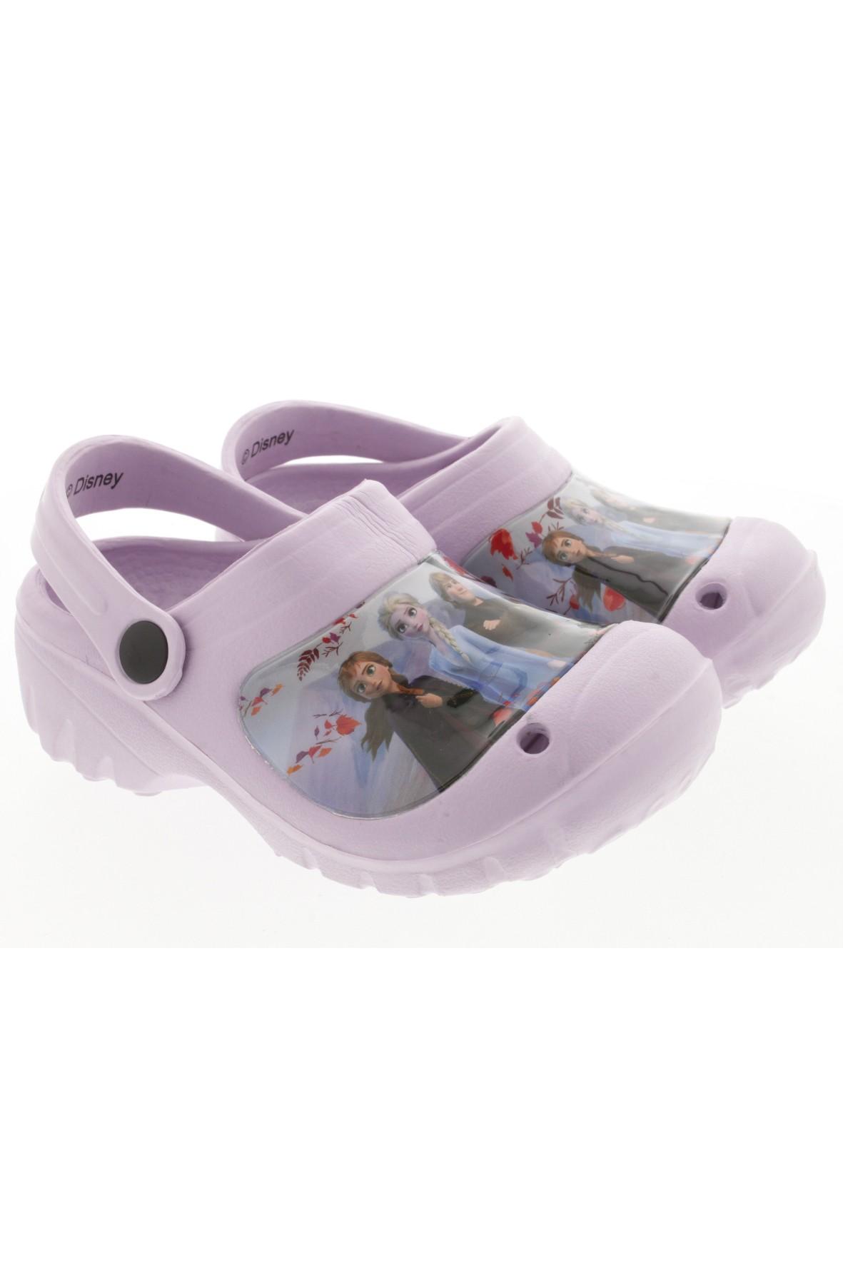 Liliowe sandałki ogrodowe dziewczęce Frozen