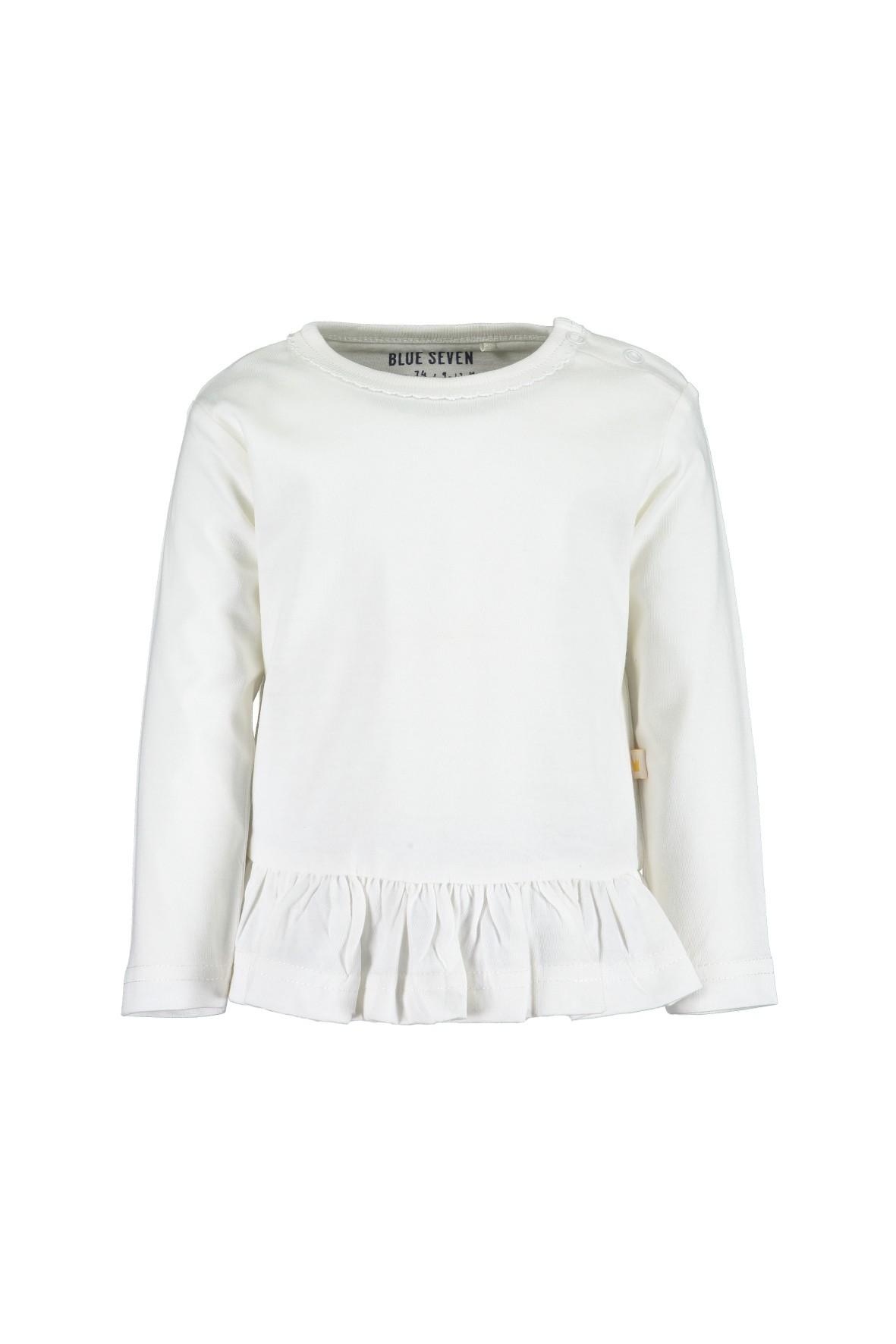 Biała bluzka z falbanką- 100% bawełna