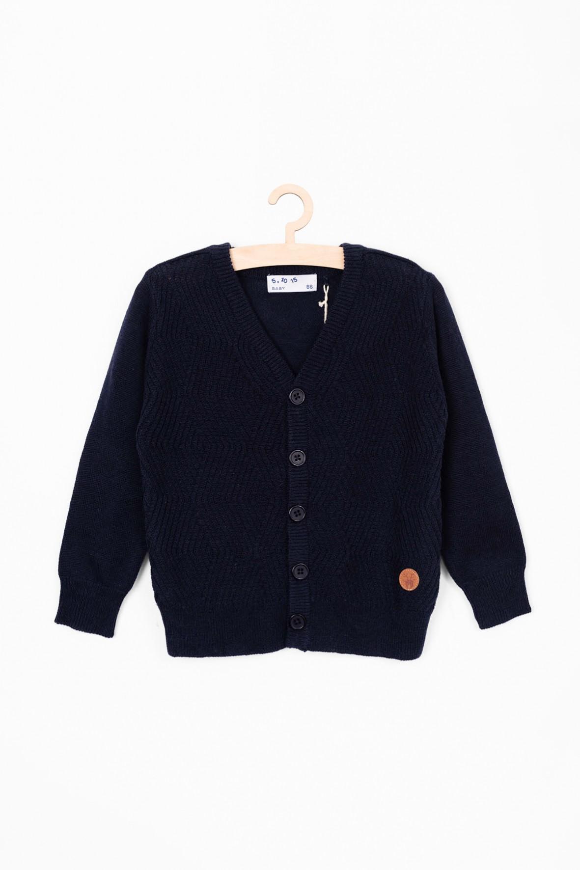 Elegancki granatowy sweter dla niemowlaka