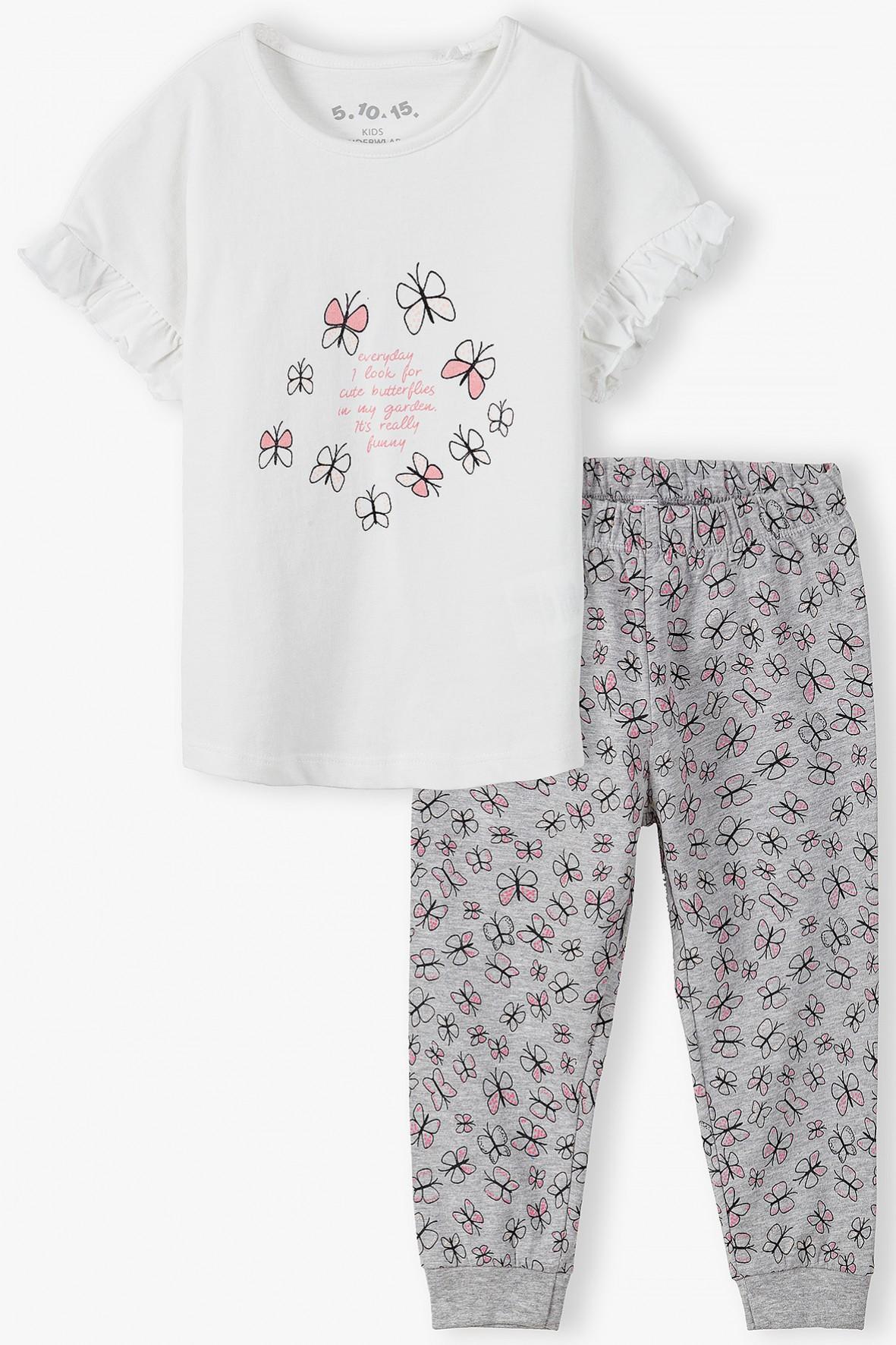 Piżama dziewczęca w motylki