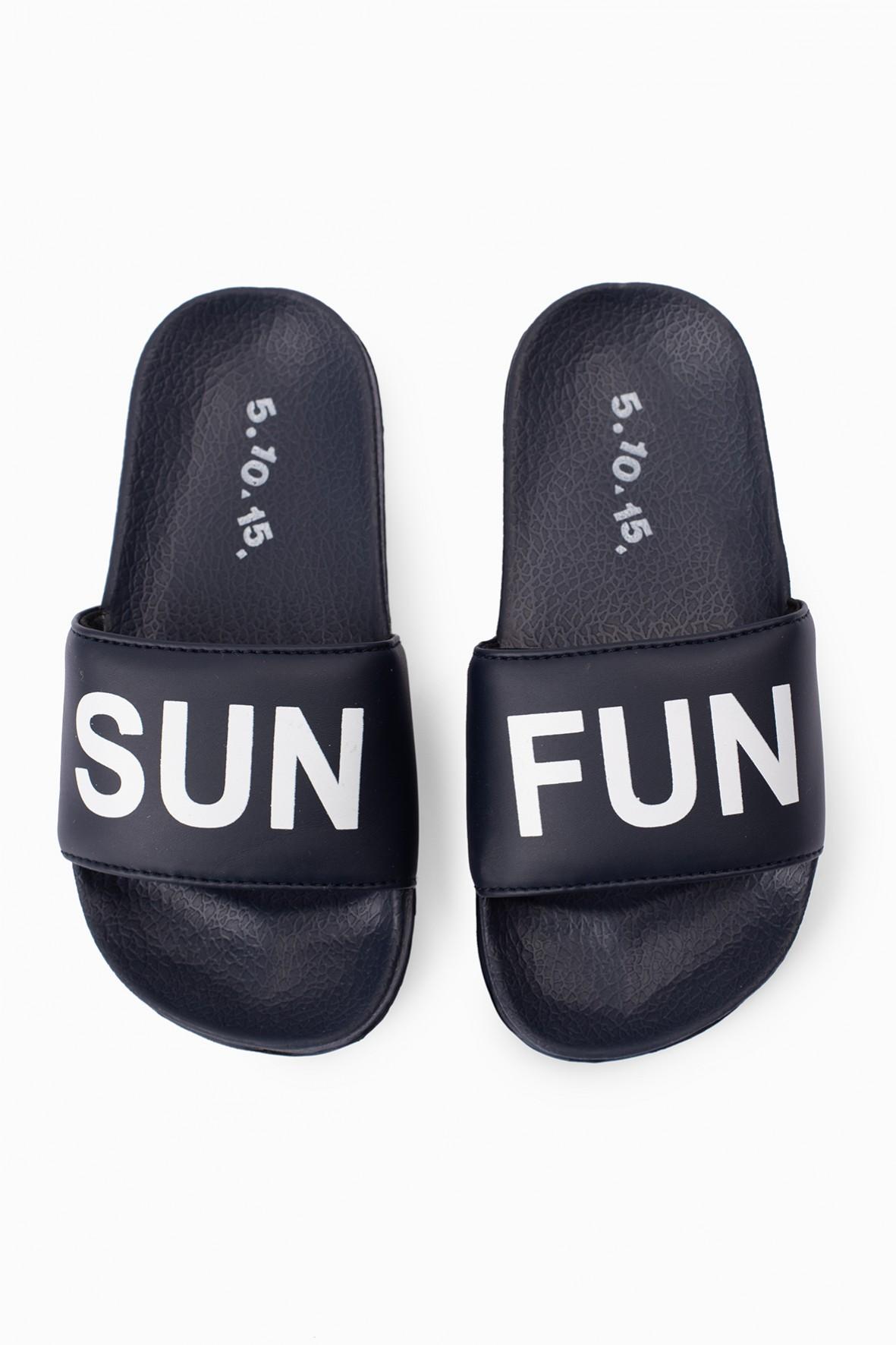 Granatowe klapki dla dziecka Sun Fun