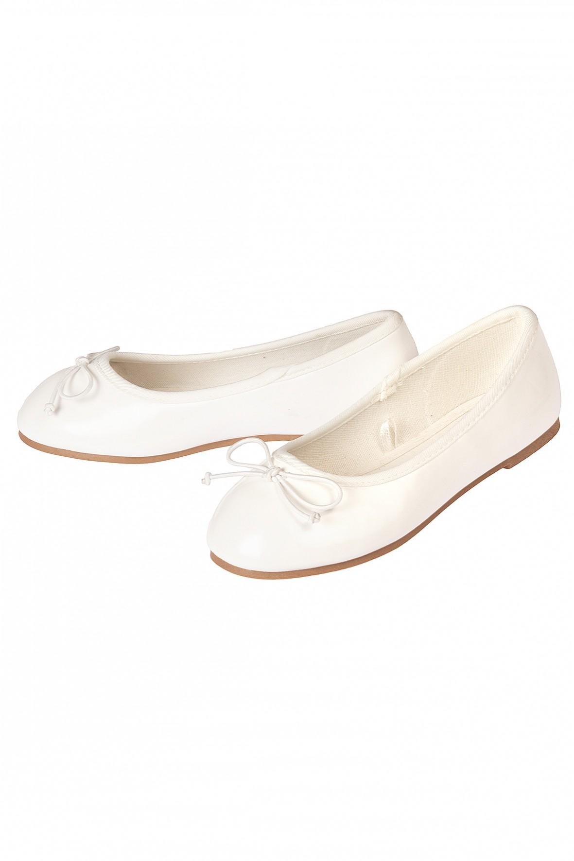Baleriny dziewczęce białe-buty dla dziewczynki