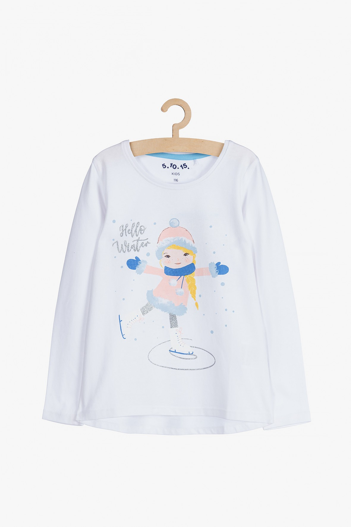 Bawełniana bluzka dla dziewczynki - Hello Winter