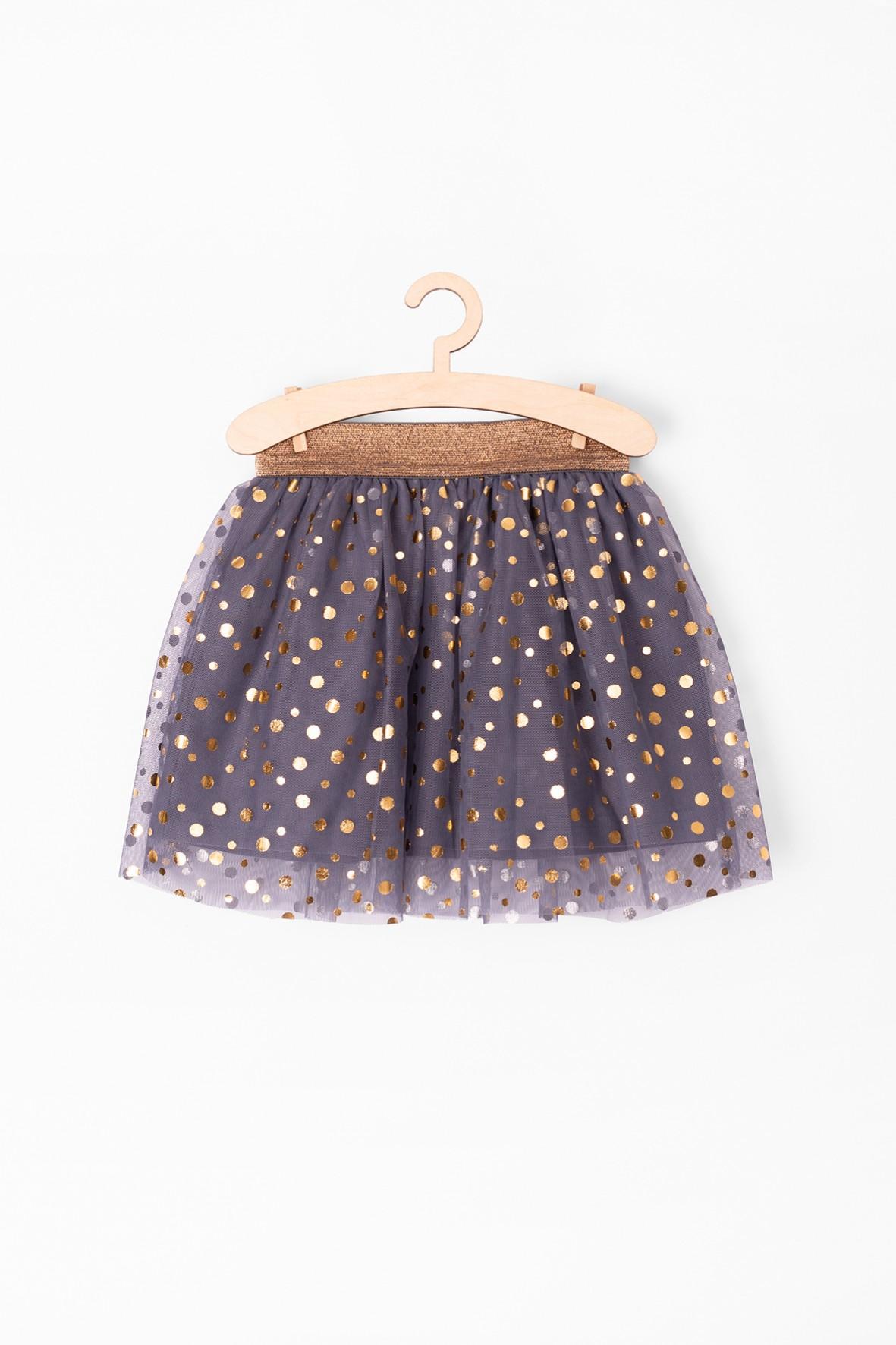 Spódnica tiulowa niemowlęca ze złotymi nadrukami