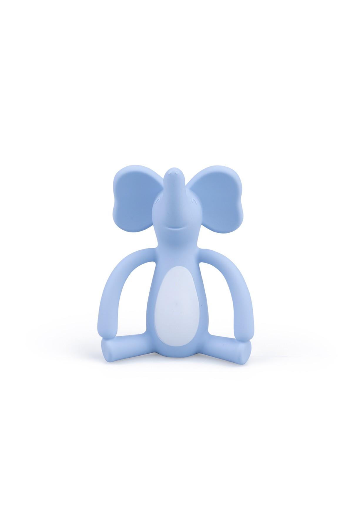 Silikonowy gryzak słonik GiliGums - niebieski  wiek 3msc+