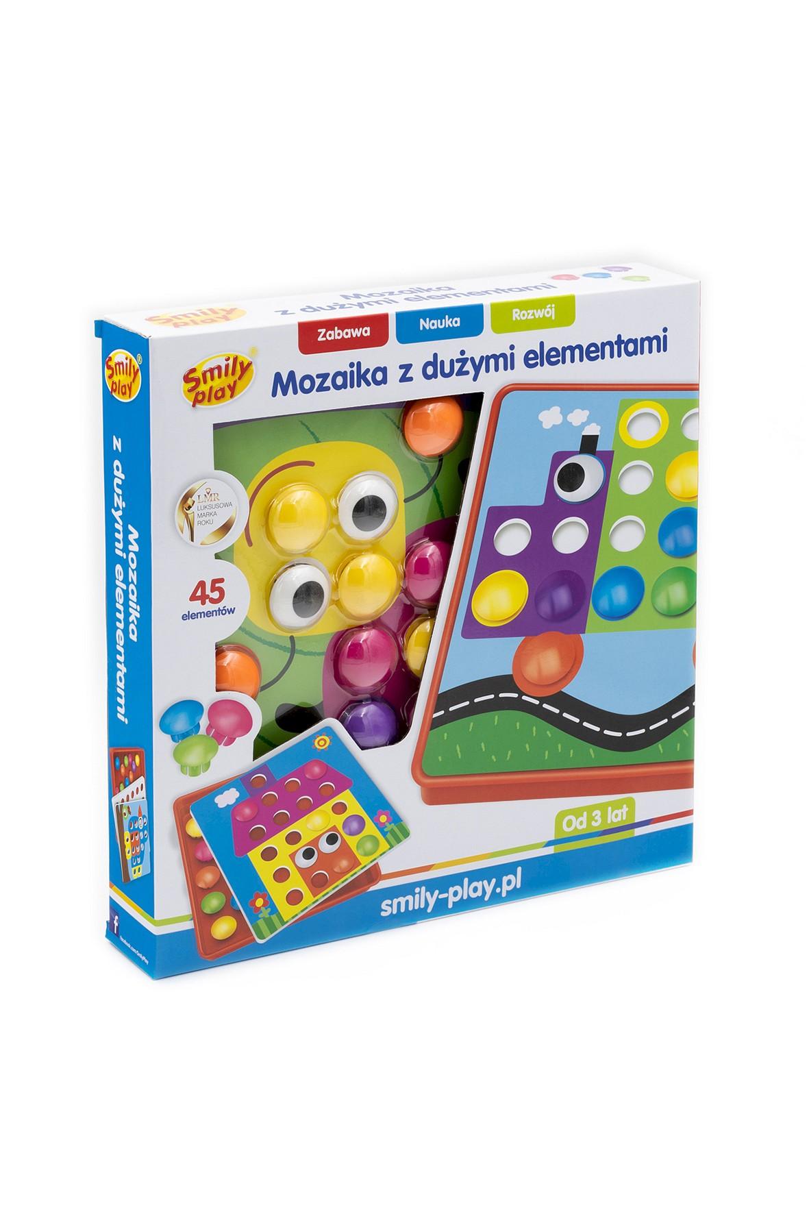 Układanka guziczkowa mozaika Smily Play wiek 3+