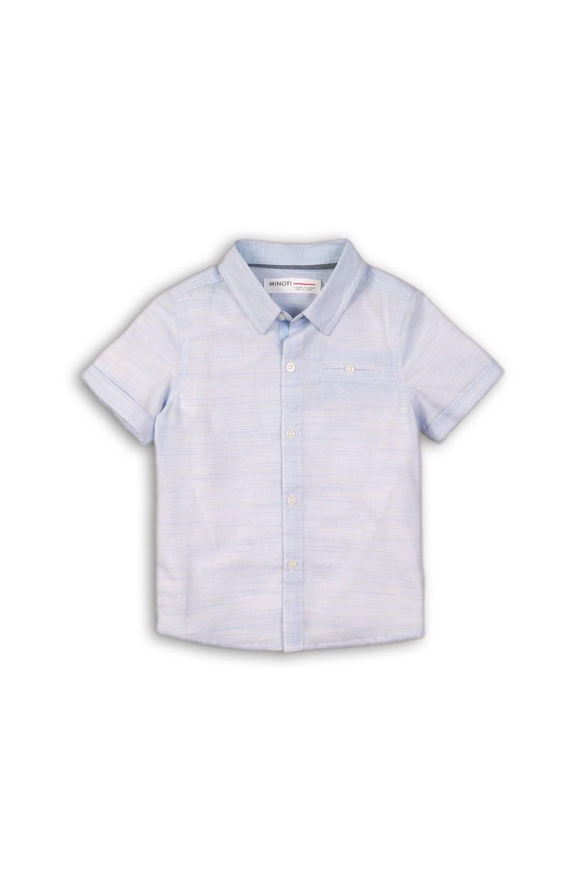 Koszula chłopięca niebieska z krótkim rękawem