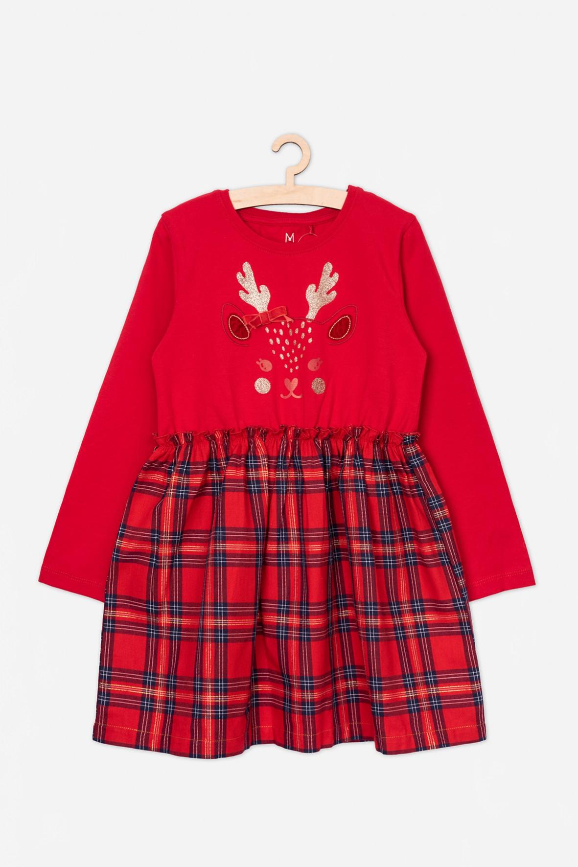 Świąteczna sukienka z reniferem
