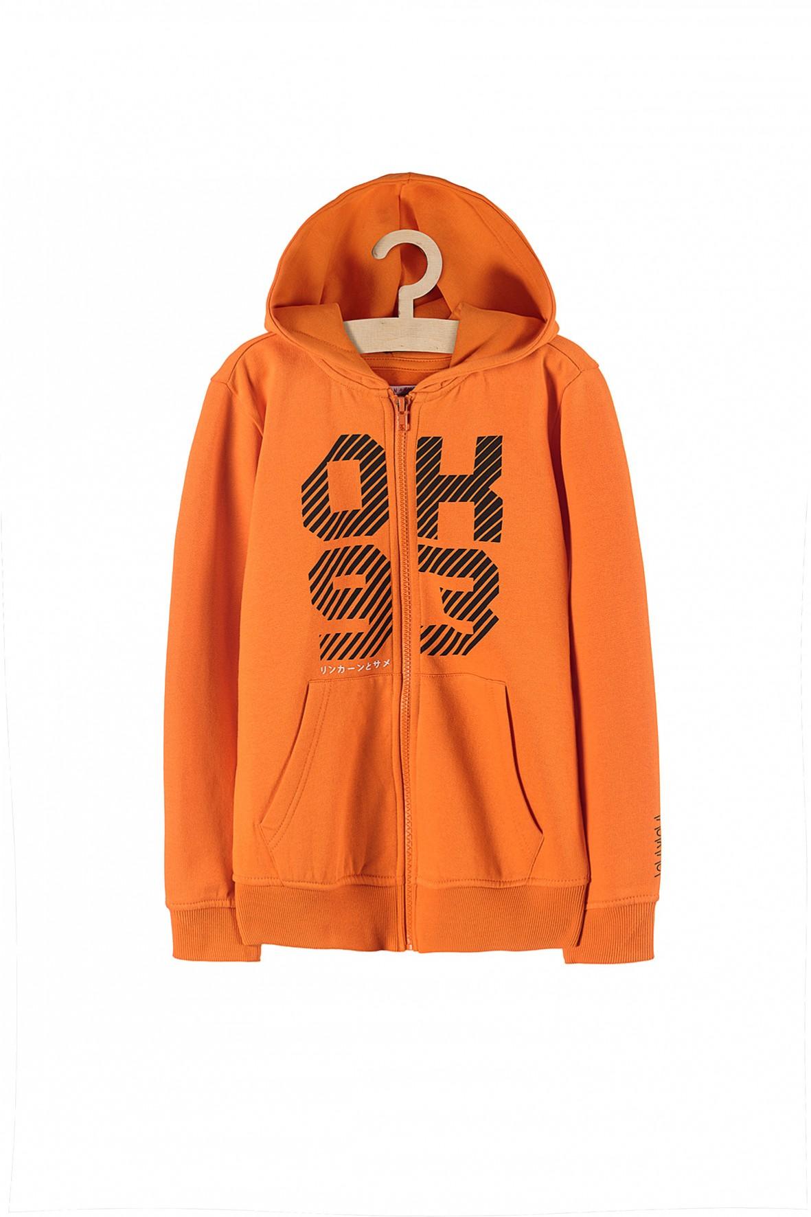 Bluza dresowa dla chłopca- pomarańczowa