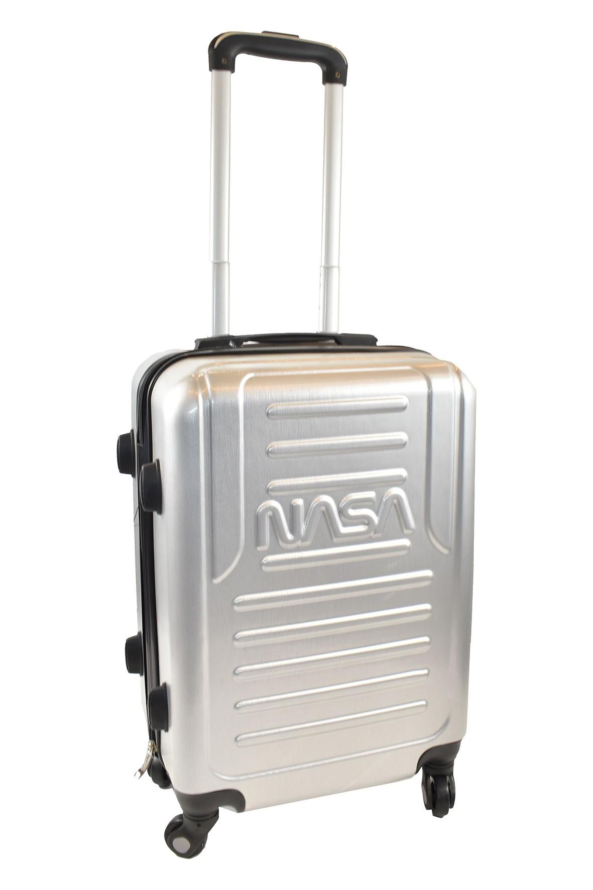 Walizka ABS NASA - srebrna 50×75×27,5cm