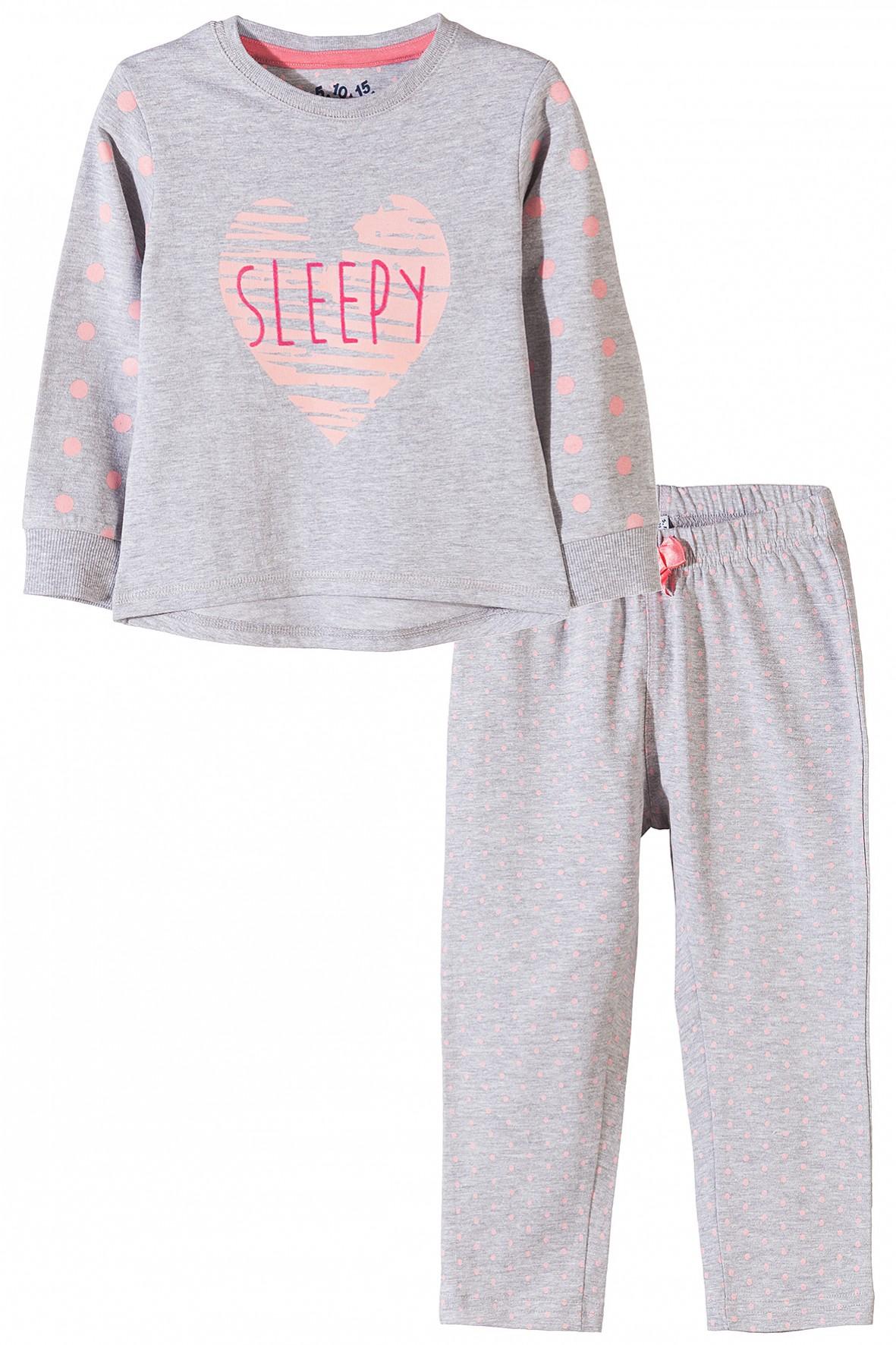 Pidżama dziewczęca dzianinowa 3W3502