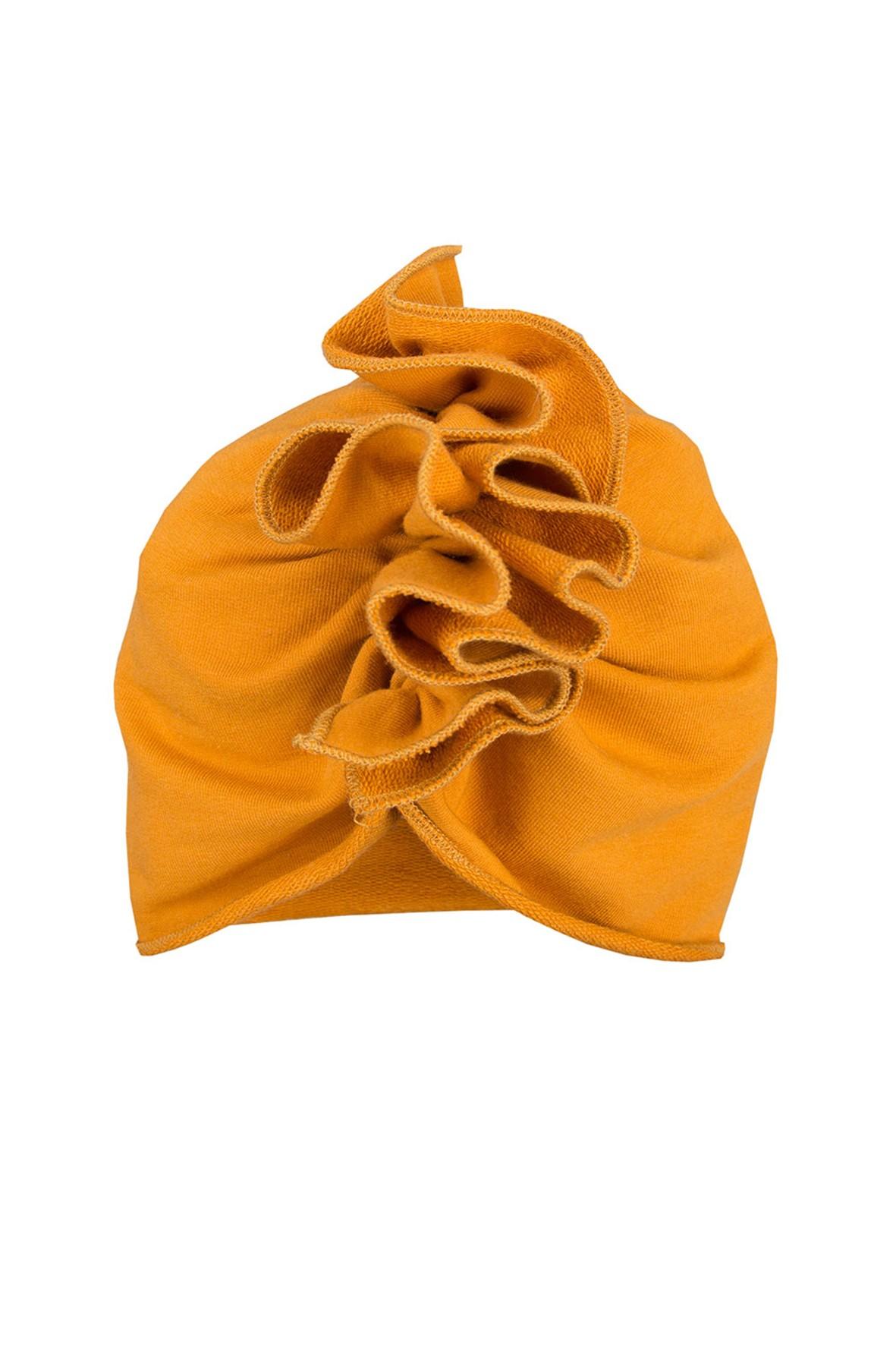 Bawełniany turban czapka - miodowa