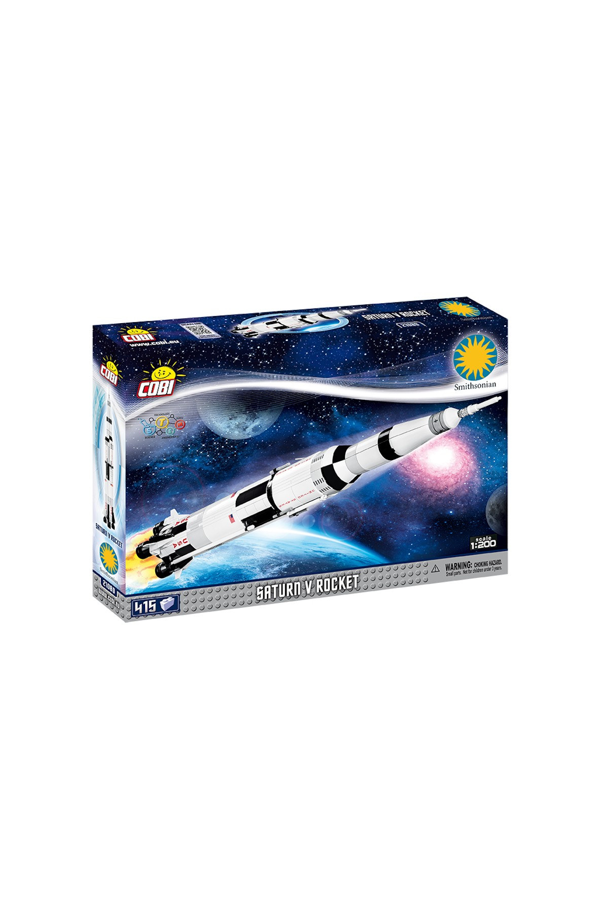 Klocki Cobi Smithsonian Saturn V Rocket 415el
