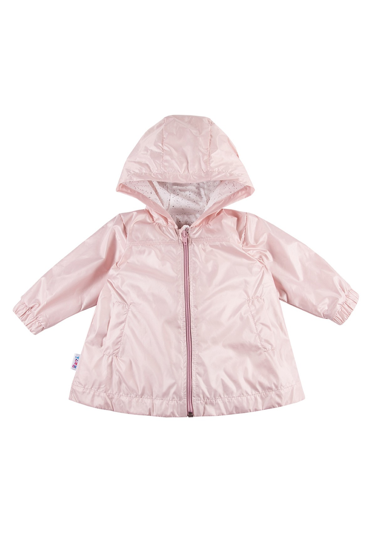 Płaszcz dziewczęcy z kapturem różowy